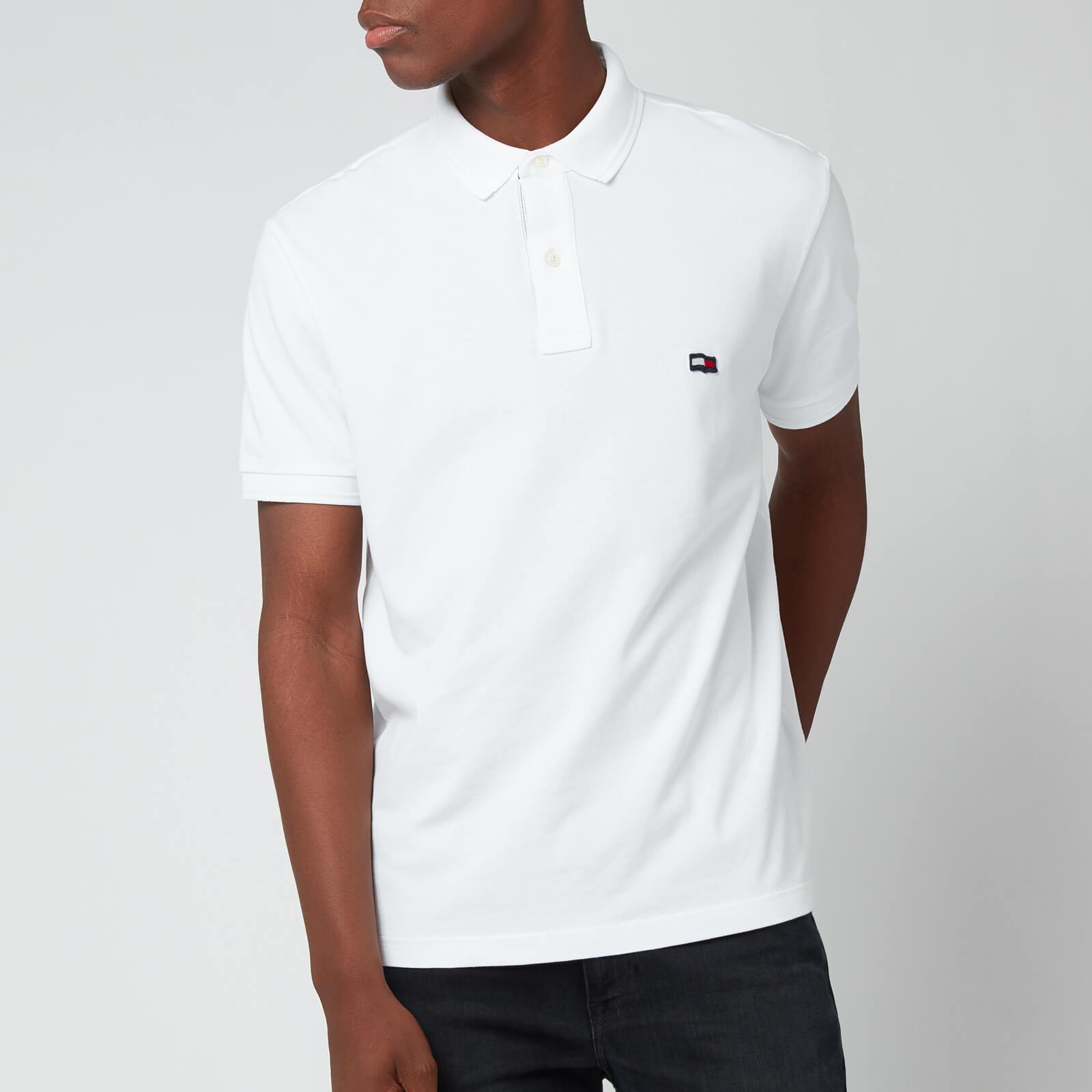 Tommy Hilfiger Men's Wavy Flag Polo Shirt - White - S