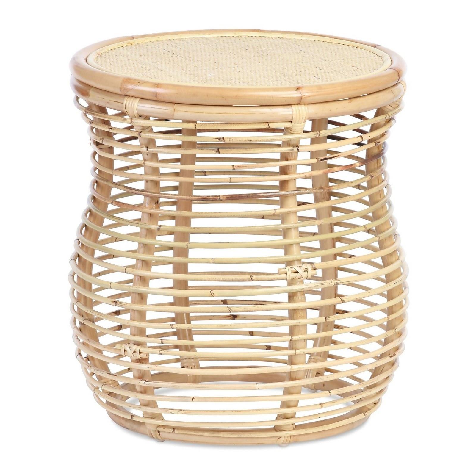 Royal Rattan Lamp Table in Natural