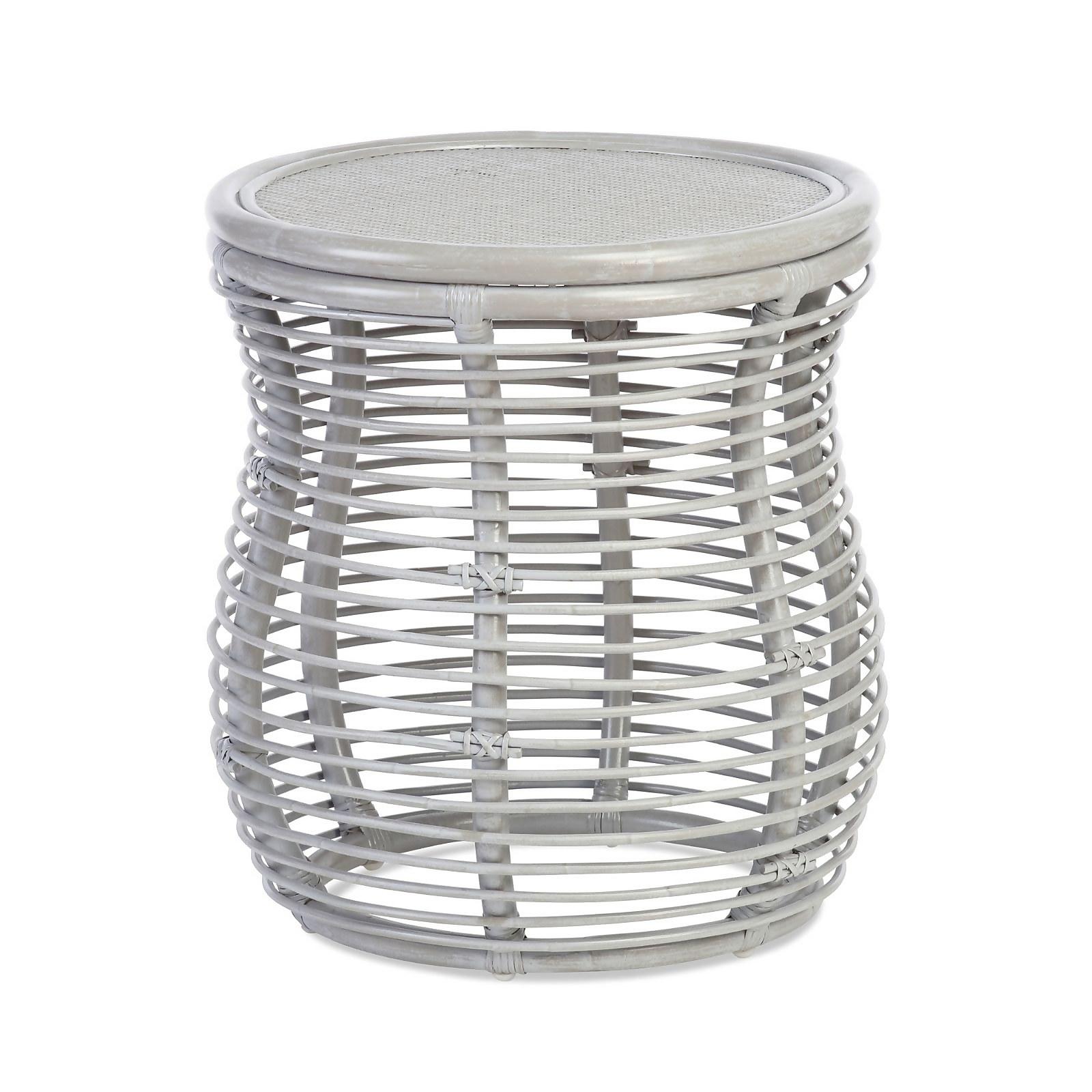 Royal Rattan Lamp Table in Grey