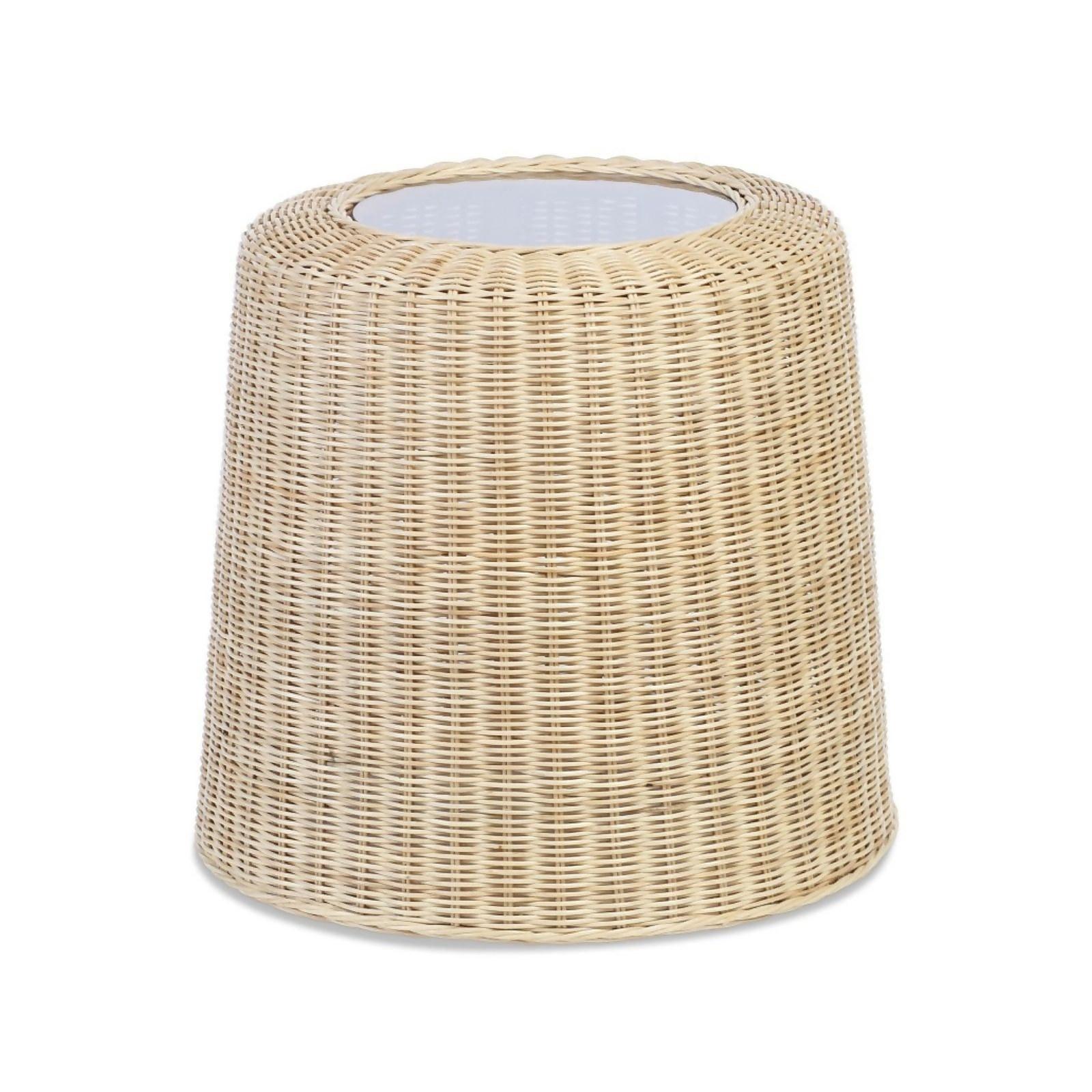 Woven Natural Rattan Lamp Table