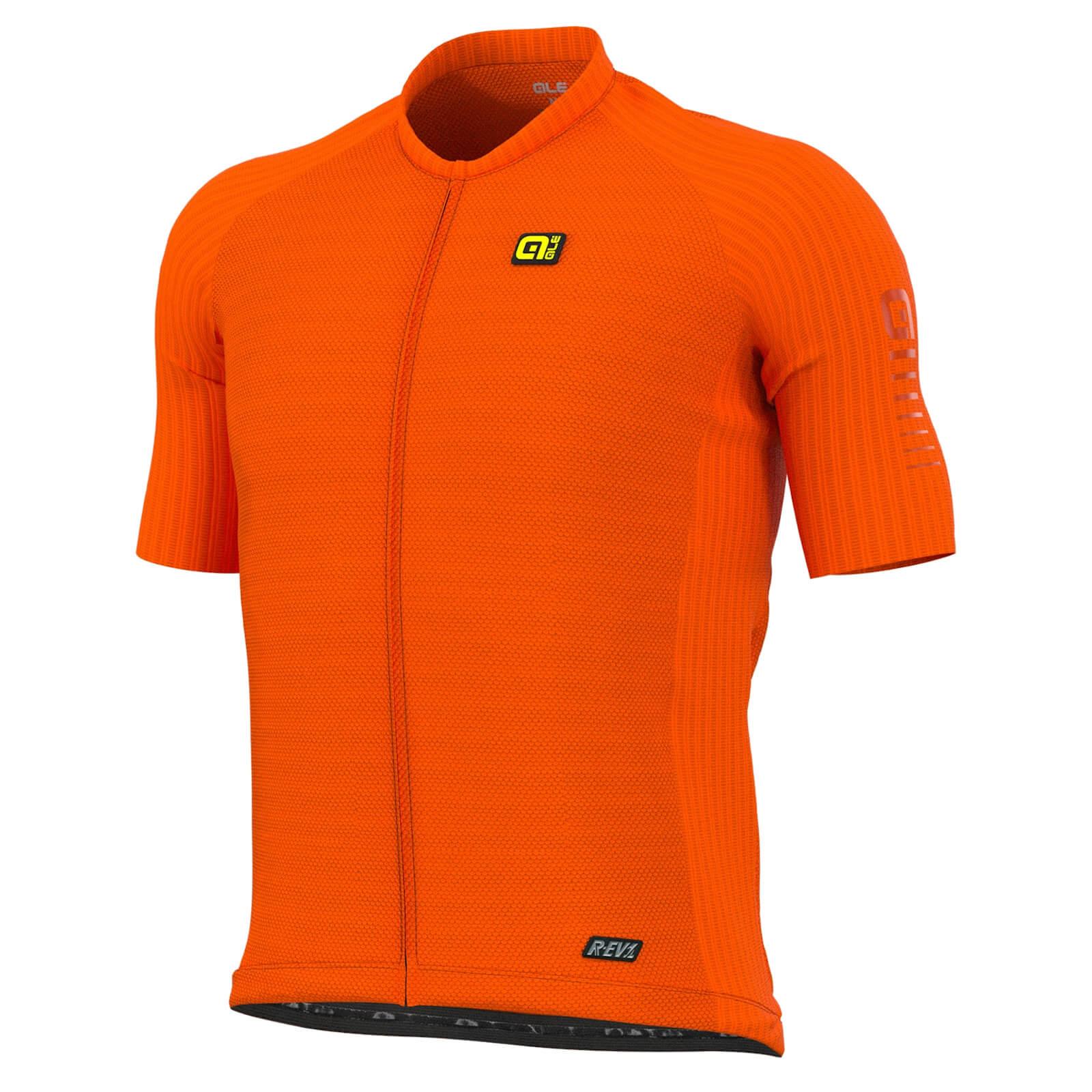 Ale R-EV1 Silver Cooling Jersey - S - Fluo Orange