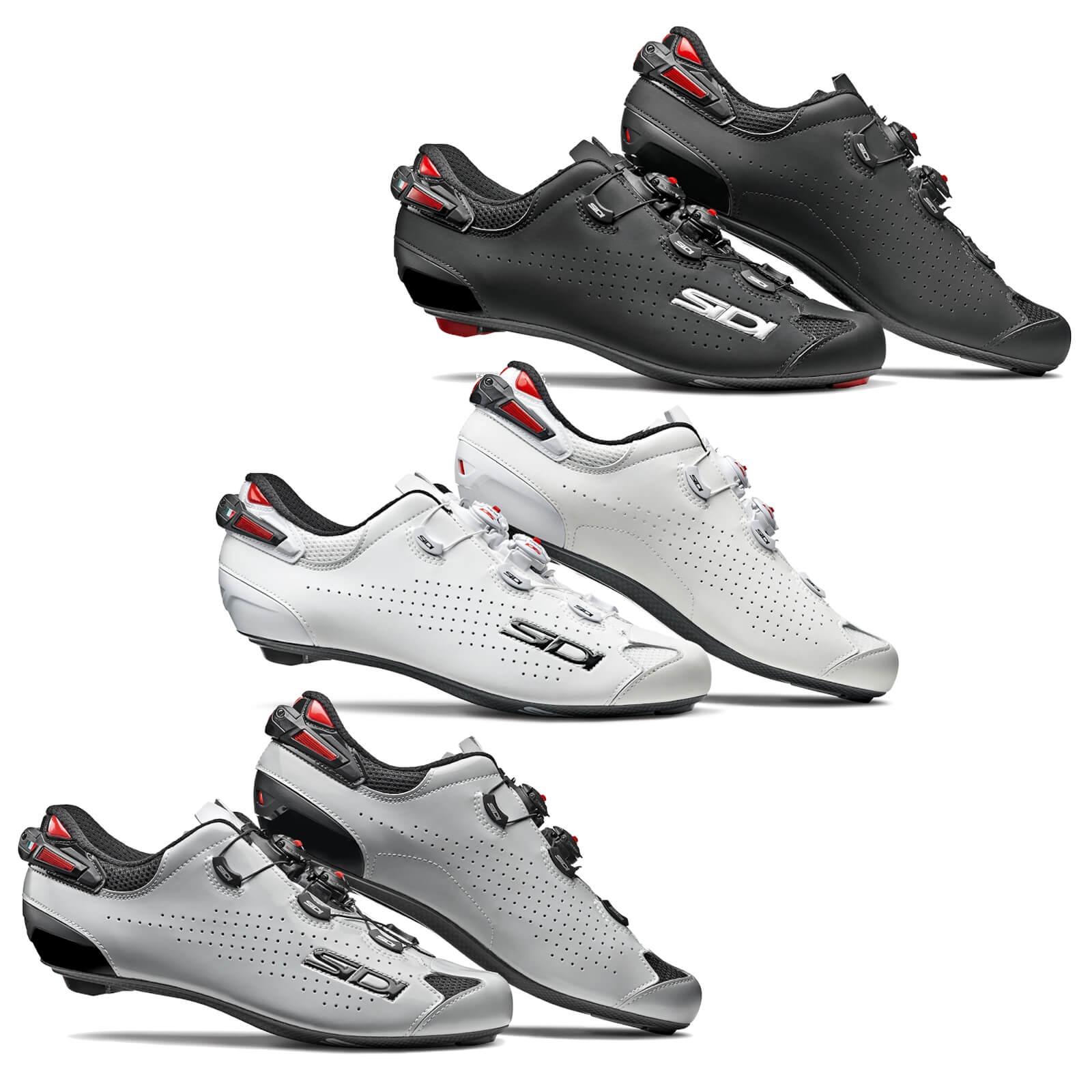 Sidi Shot 2 Carbon Road Shoes - EU 43.5 - Black/Black