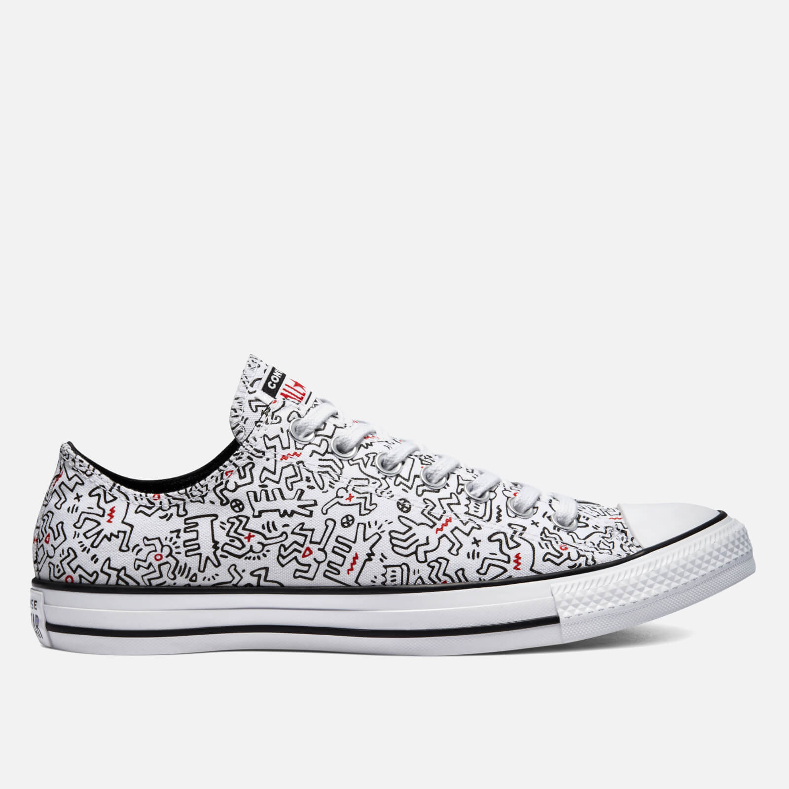 Converse Keith Haring Chuck Taylor All Star Ox Trainers - White/Black/Red - UK 11