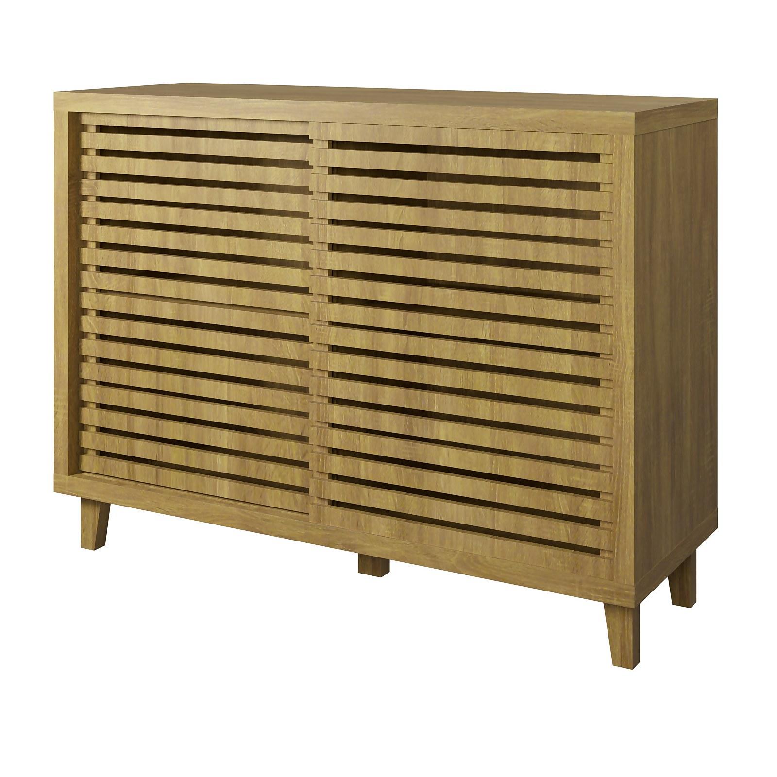 Sideboard with Sliding Doors - Mango Oak