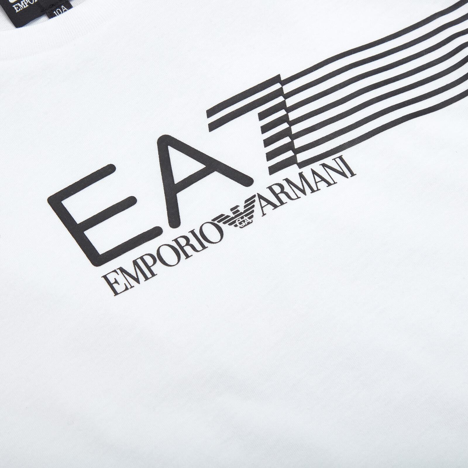 Ea7 Boys' Train Lines T-Shirt - White - 10 Years