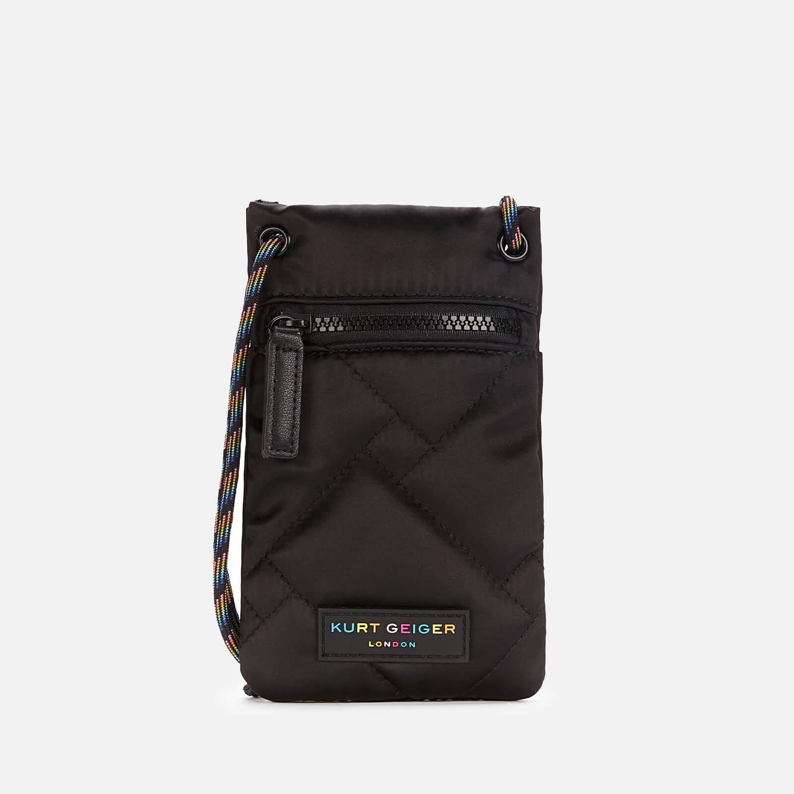 Kurt Geiger London Women's Recycled Phone Holder Cross Body Bag - Black