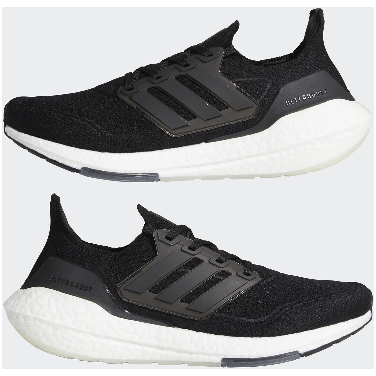 adidas Ultra Boost 21 Running Shoes - Core Black/Core Black/Grey Four - US 8.5/UK 8