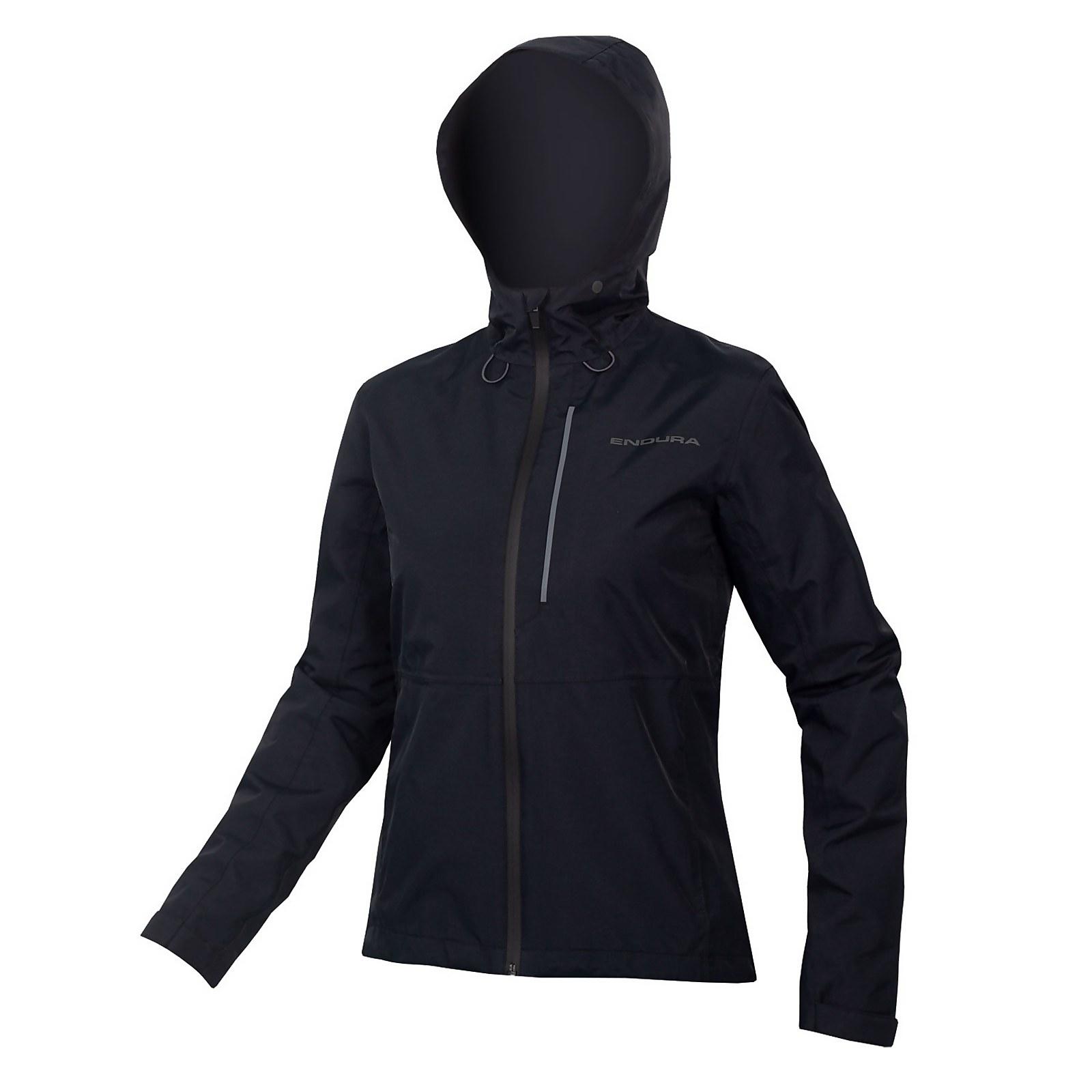Womens Hummvee Waterproof Hooded Jacket - Black - L