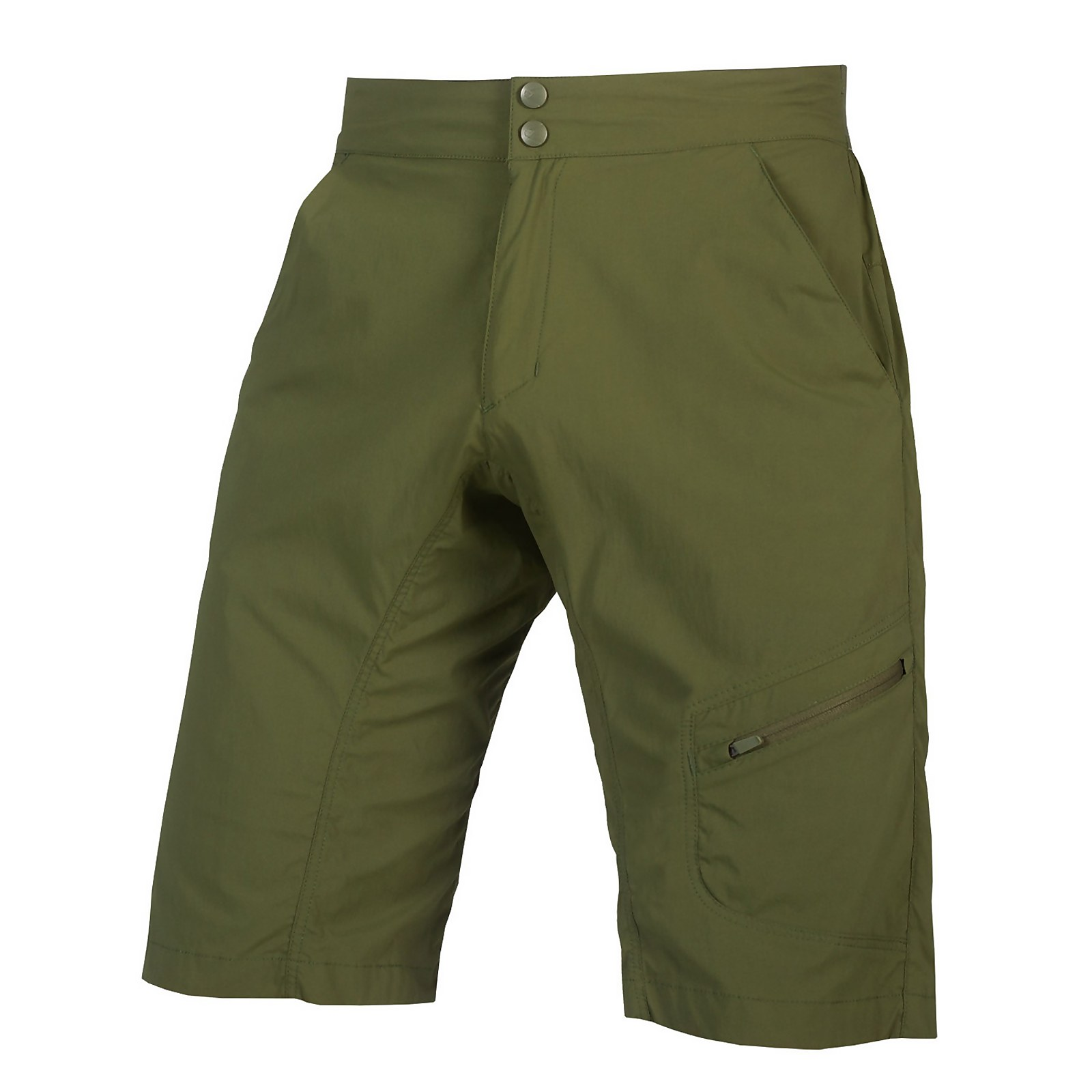 Hummvee Lite Short With Liner - Olive Green - M