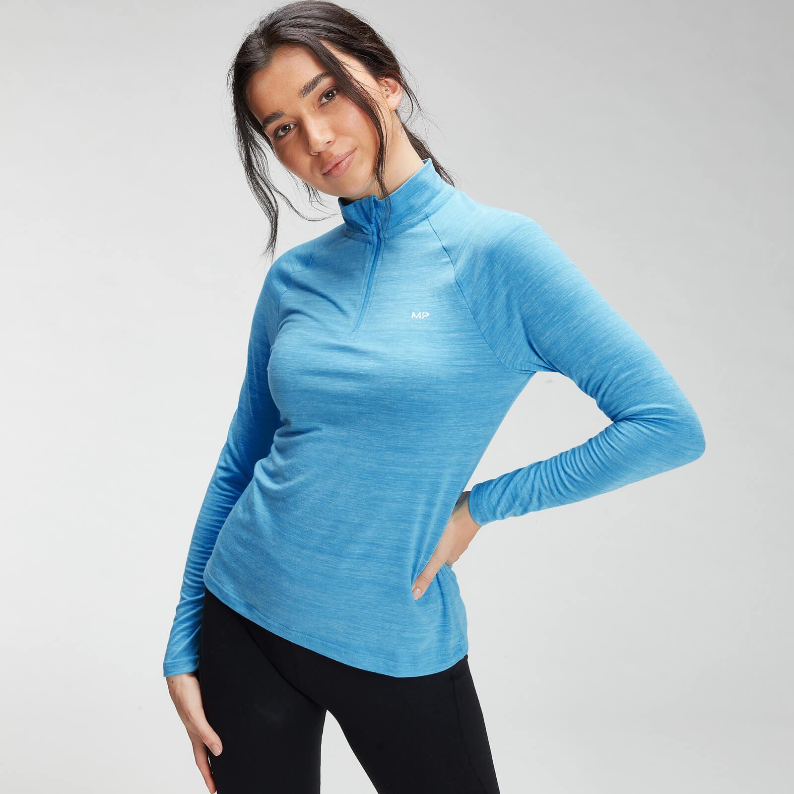 Купить MP Women's Performance Training 1/4 Zip Top - Bright Blue Marl with White Fleck - XXS, Myprotein International