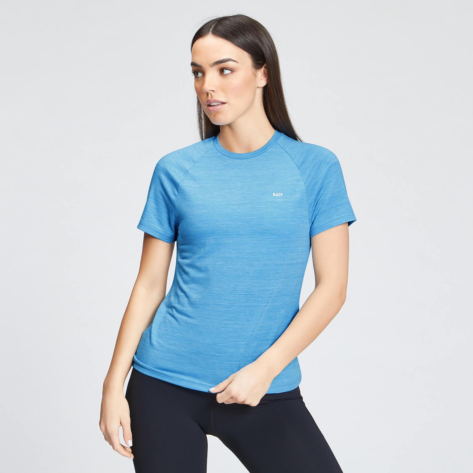 Купить MP Women's Performance Training T-Shirt - Bright Blue Marl with White Fleck - XL, Myprotein International