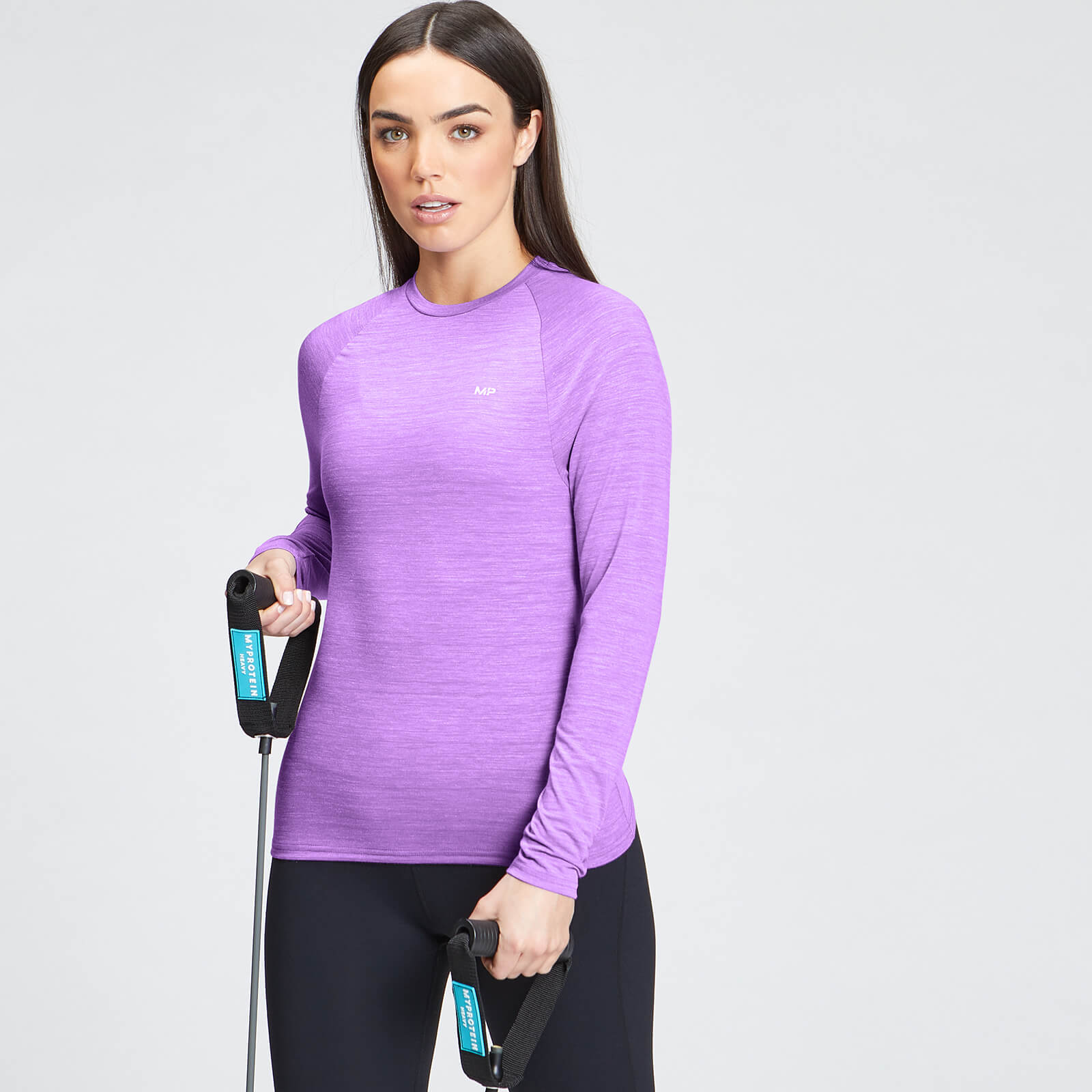 Купить MP Women's Performance Long Sleeve Training T-Shirt - Deep Lilac Marl with White Fleck - XXL, Myprotein International