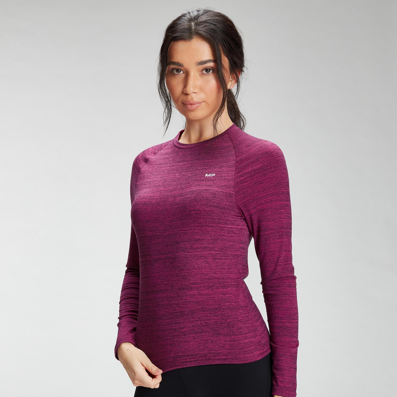MP Women's Performance Long Sleeve Training T-Shirt - Deep Pink Marl with Black Fleck - XL, Myprotein International  - купить со скидкой