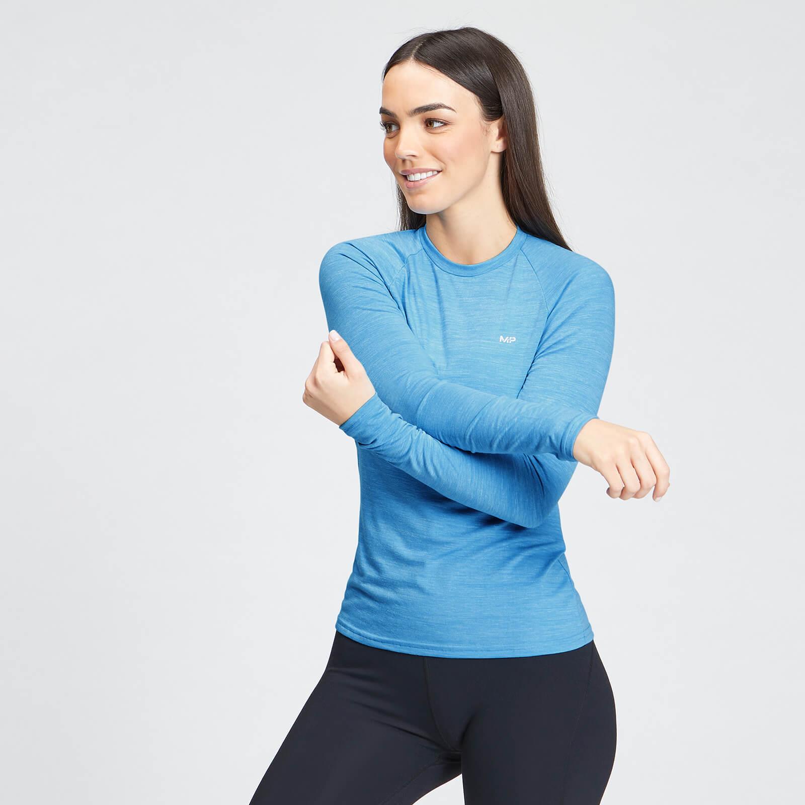 Купить MP Women's Performance Long Sleeve Training T-Shirt - Bright Blue Marl with White Fleck - XL, Myprotein International