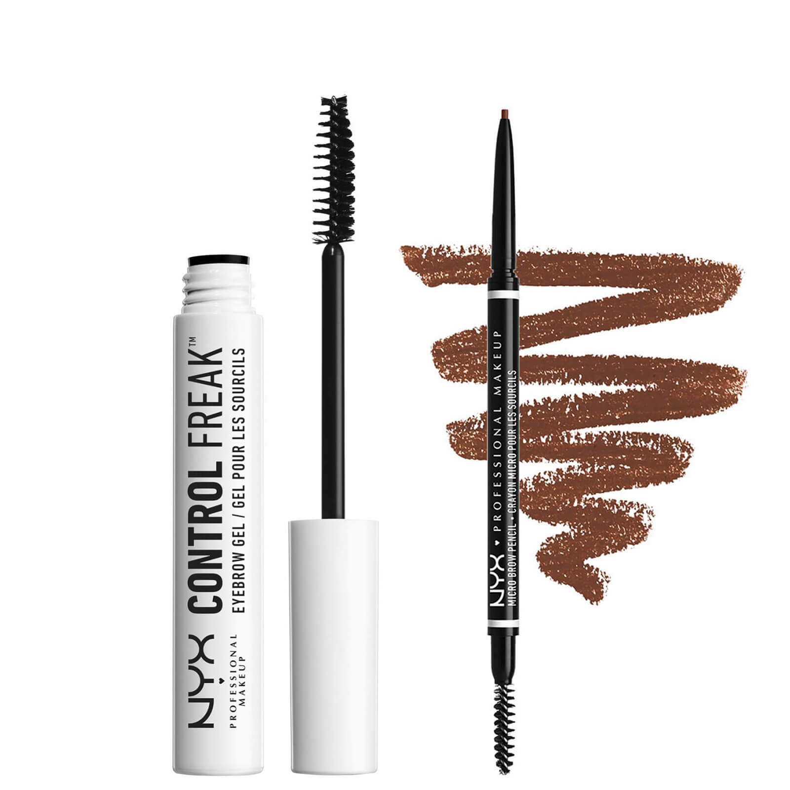 NYX Professional Makeup Tame and Define Brow Duo (Various Shades) - Brunette