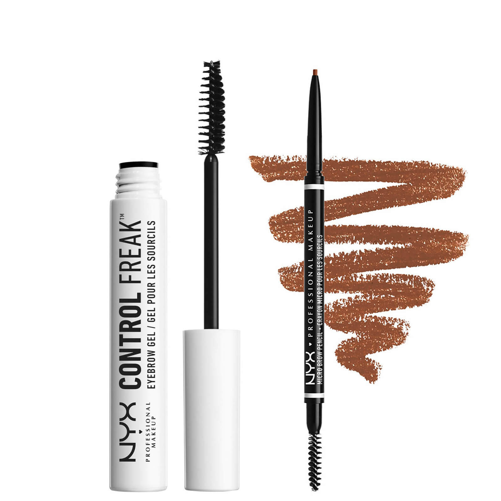 NYX Professional Makeup Tame and Define Brow Duo (Various Shades) - Auburn