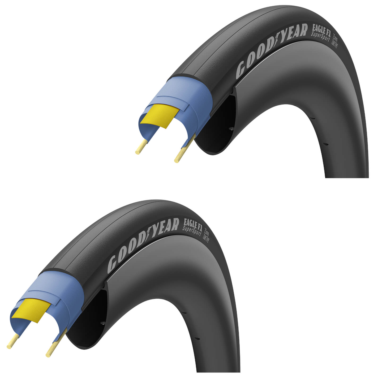 Image of Goodyear Eagle F1 SuperSport Road Tyre Twin Pack - 700C x 28mm - Black
