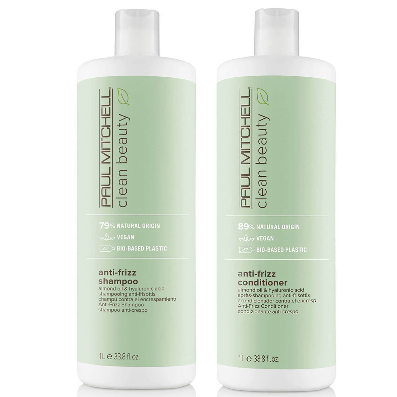 Paul Mitchell Clean Beauty Anti-Frizz Shampoo and Conditioner Supersize Set