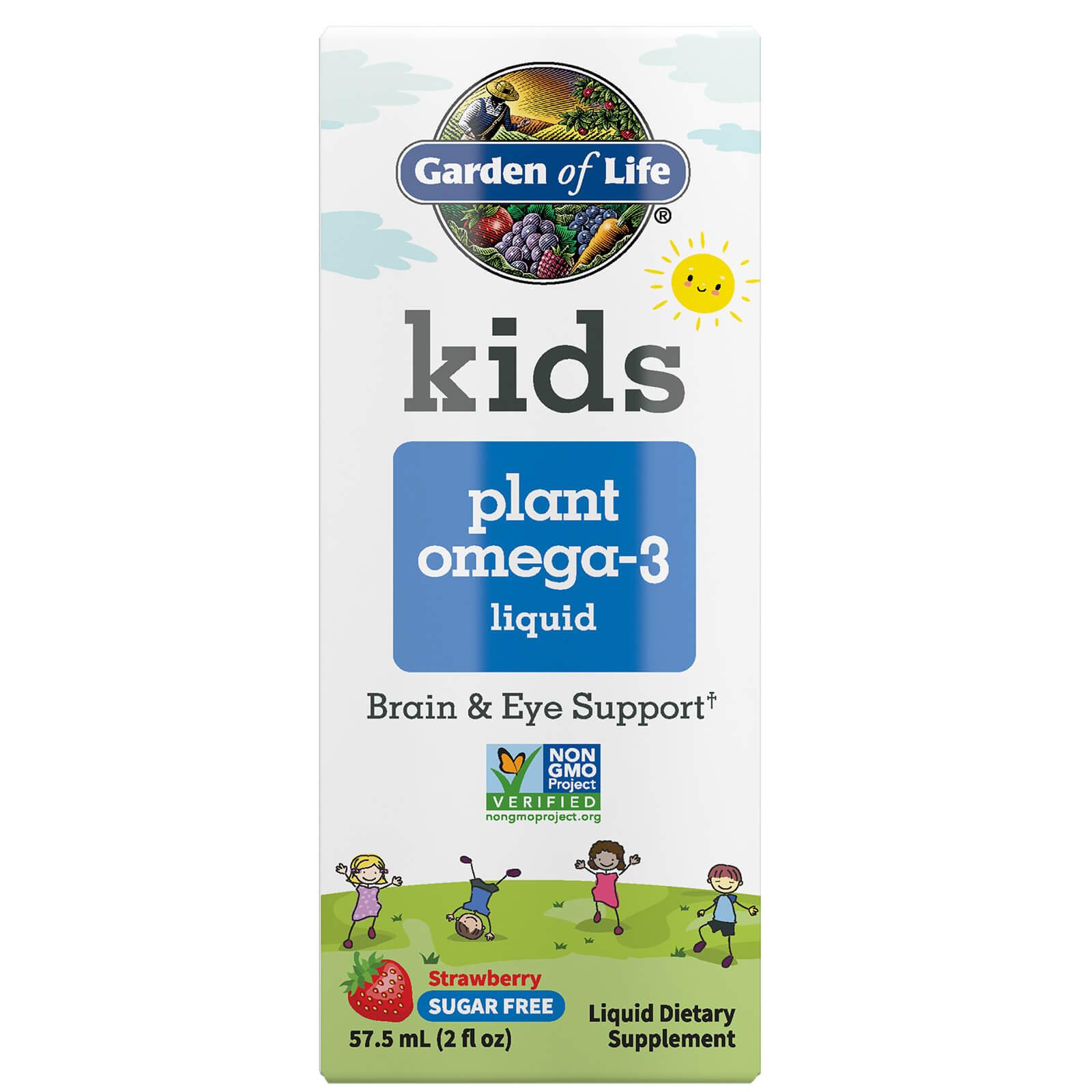 Kids plantaardige omega 3 Aardbei 57,5 ml Vloeistof