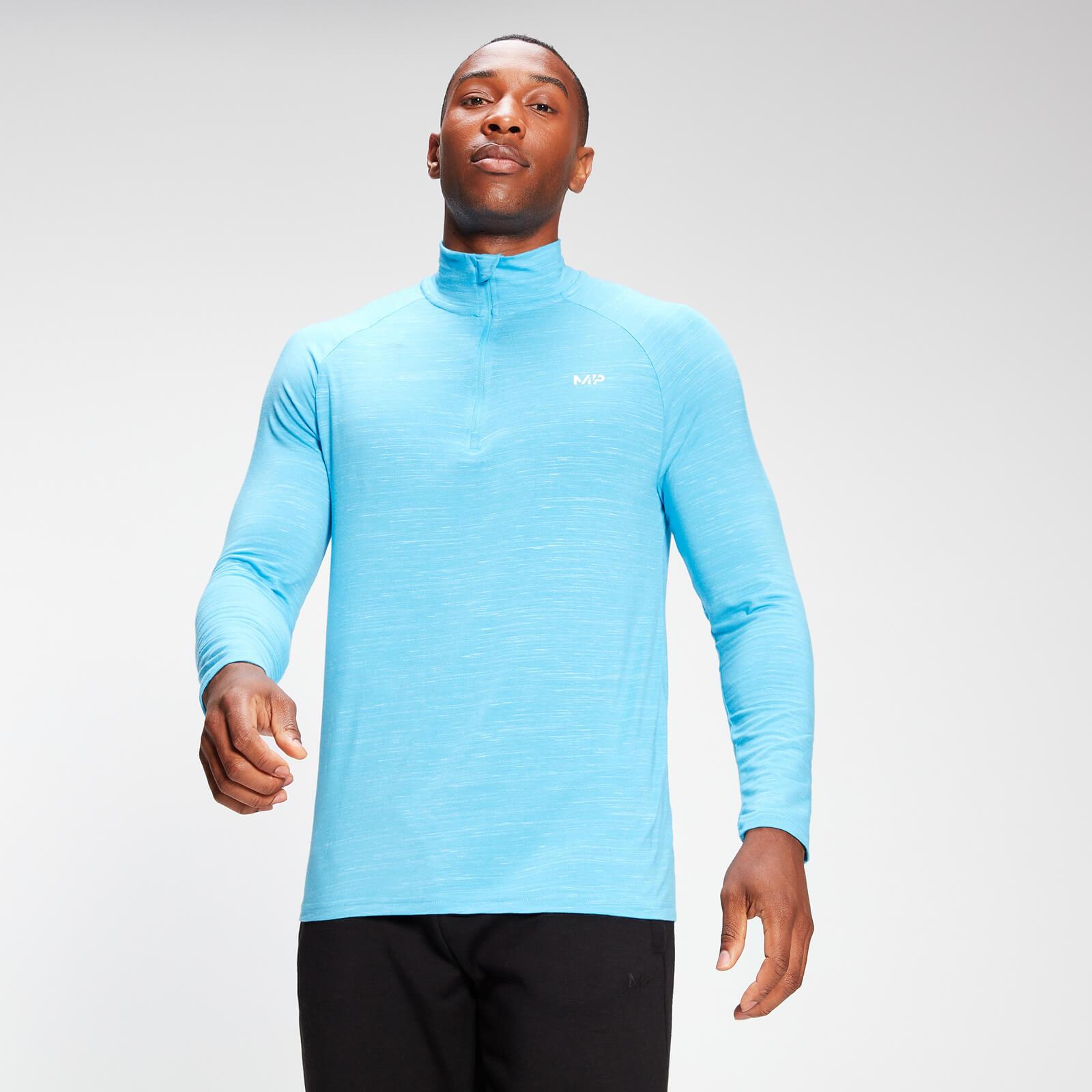 Купить MP Men's Performance 1/4 Zip Top - Bright Blue Marl - XXS, Myprotein International