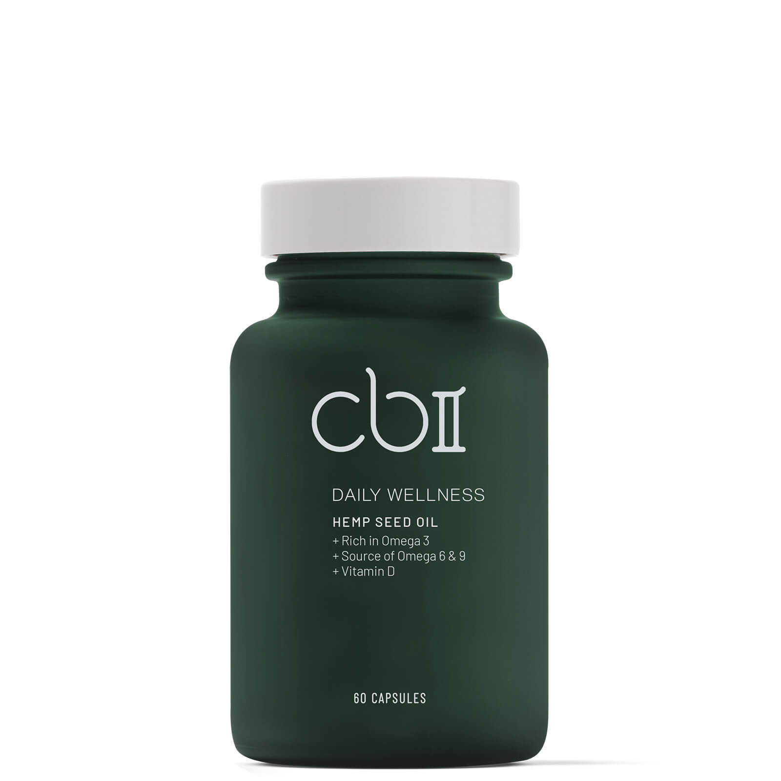 CBII Wellness Hemp Seed Capsules with Vitamin D 157g