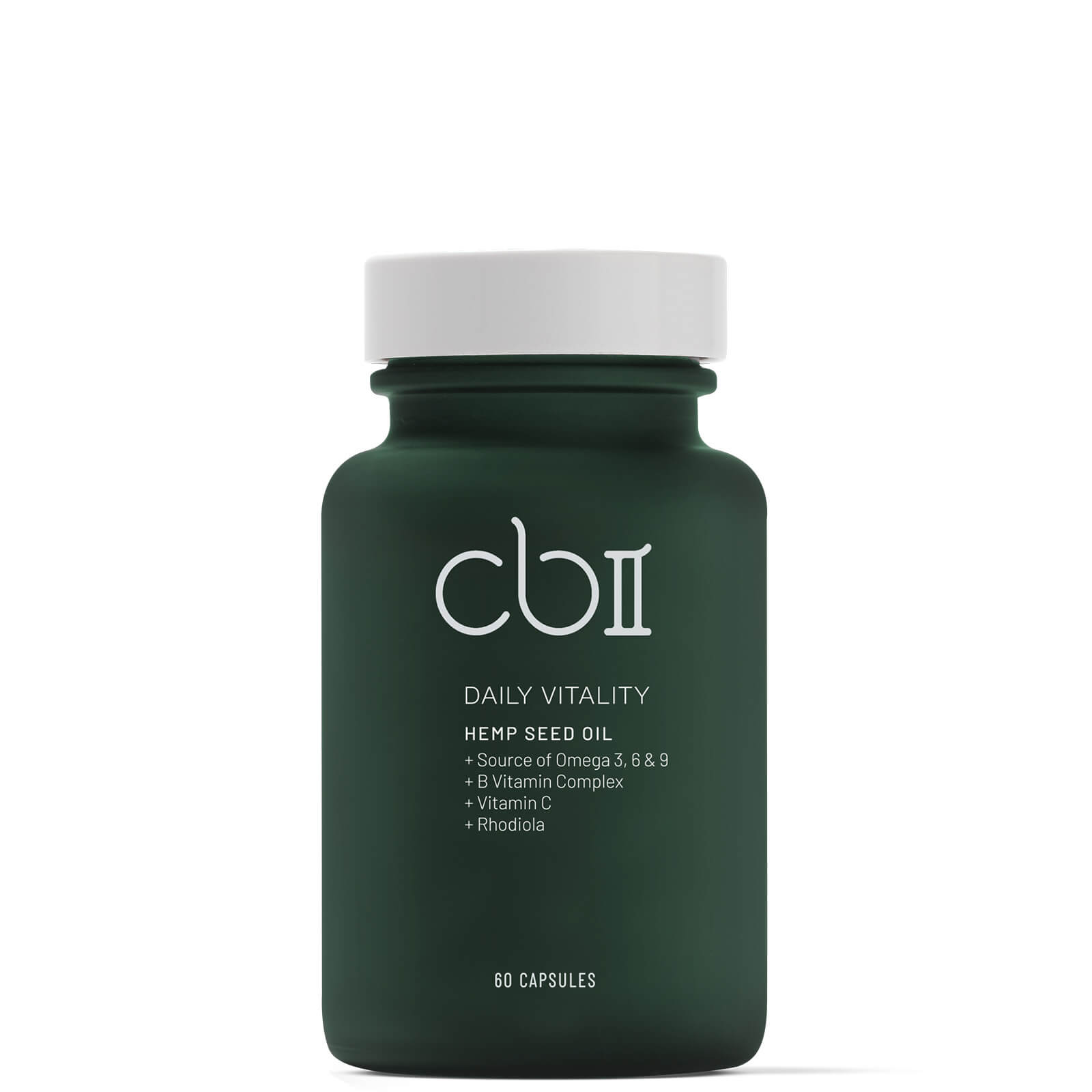 CBII Vitality Hemp Seed Capsules with Vitamin B and C 157g