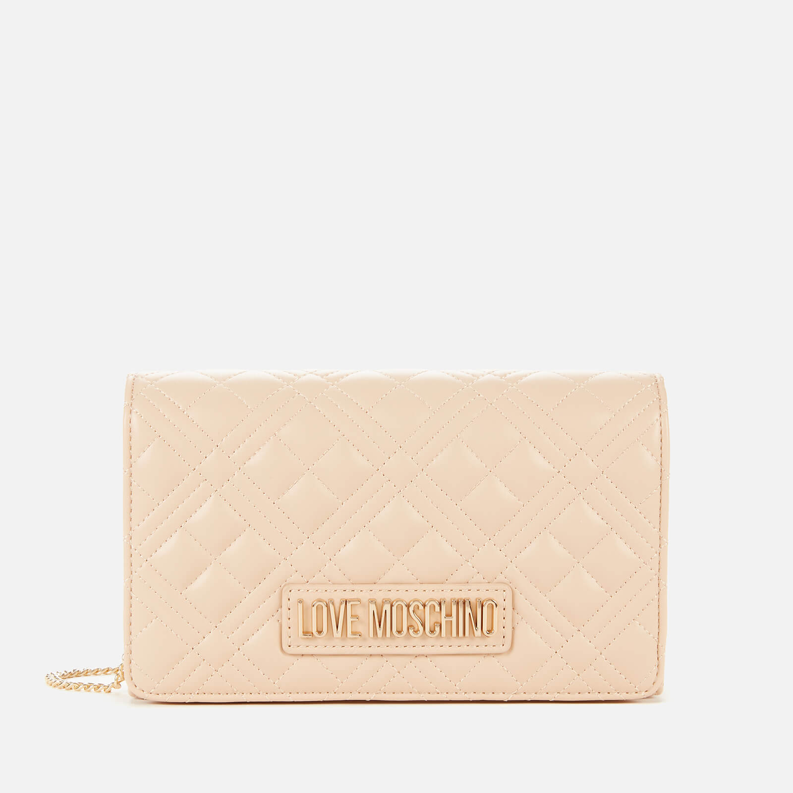 Love Moschino Women's Quilted Chain Cross Body Bag - Nude