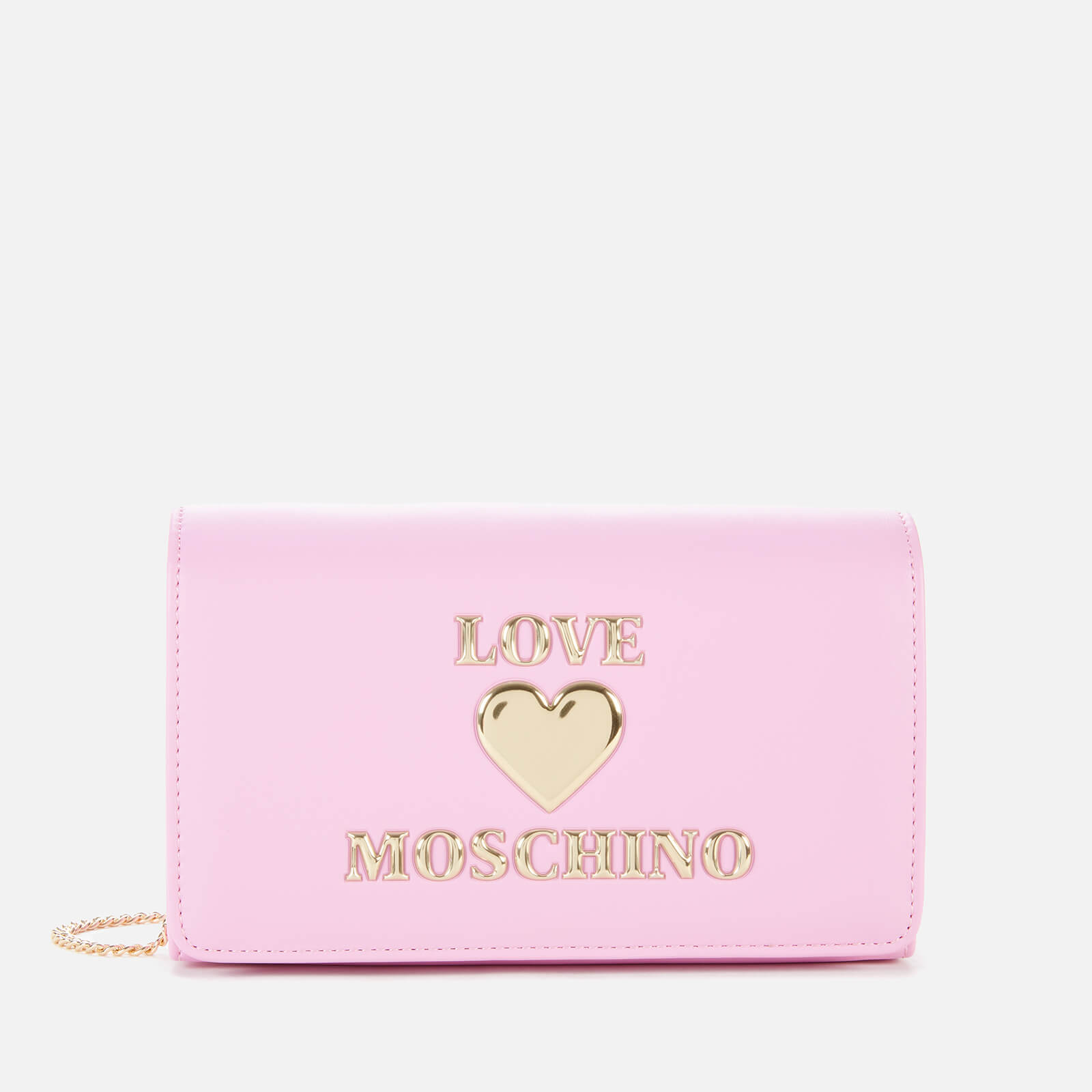 Love Moschino Women's Love Chain Cross Body Bag - Mauve