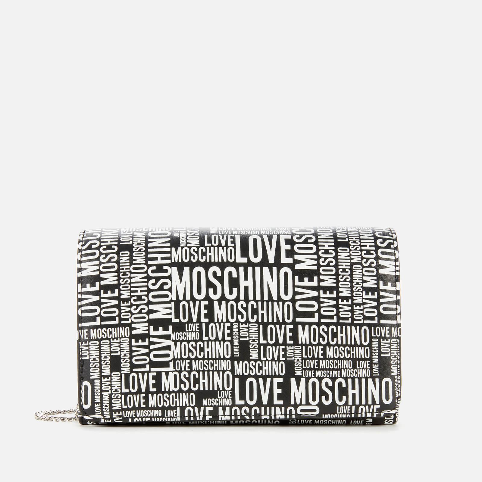 Love Moschino Women's Logo Print Bag - Black/White