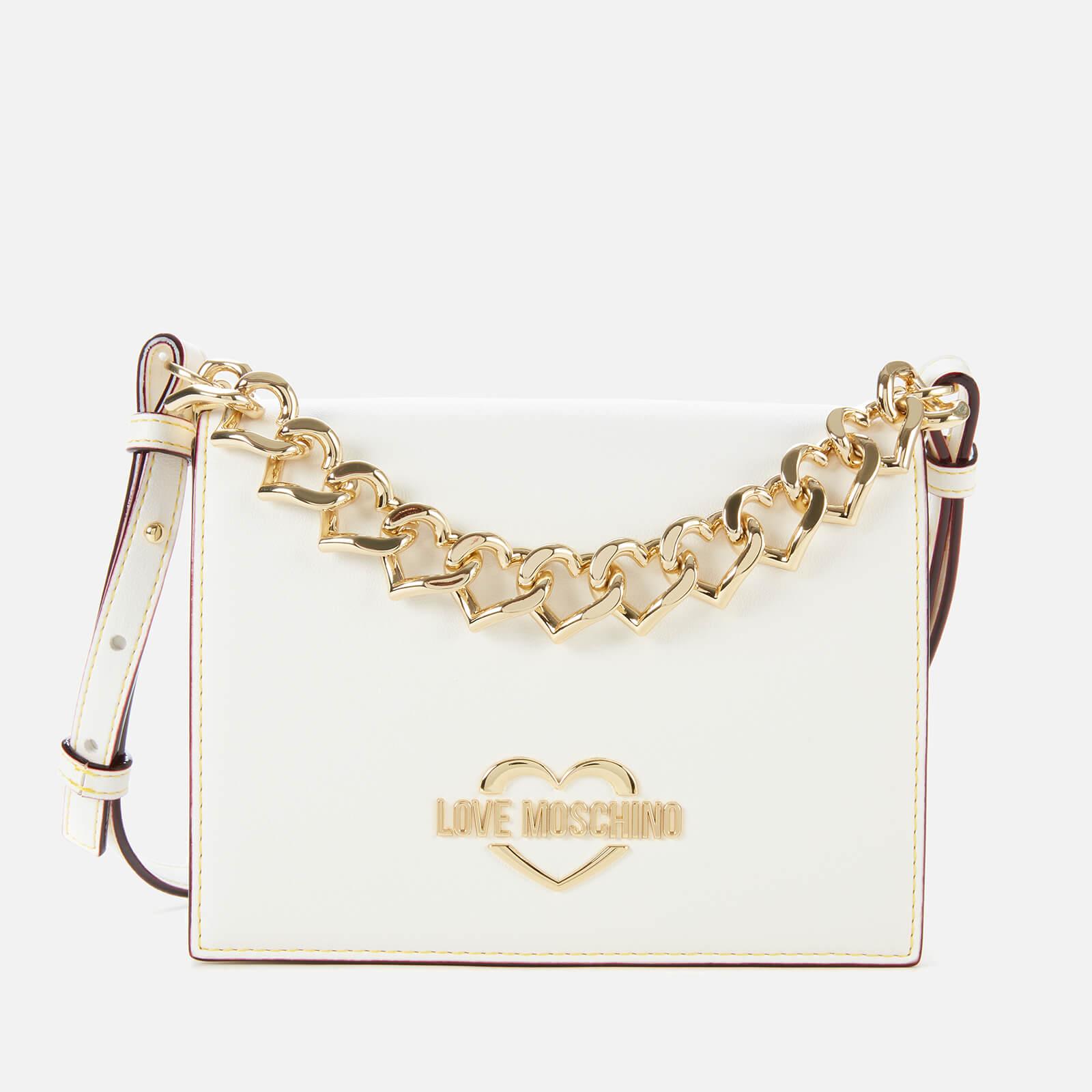 Love Moschino Women's Chain Cross Body Bag - White