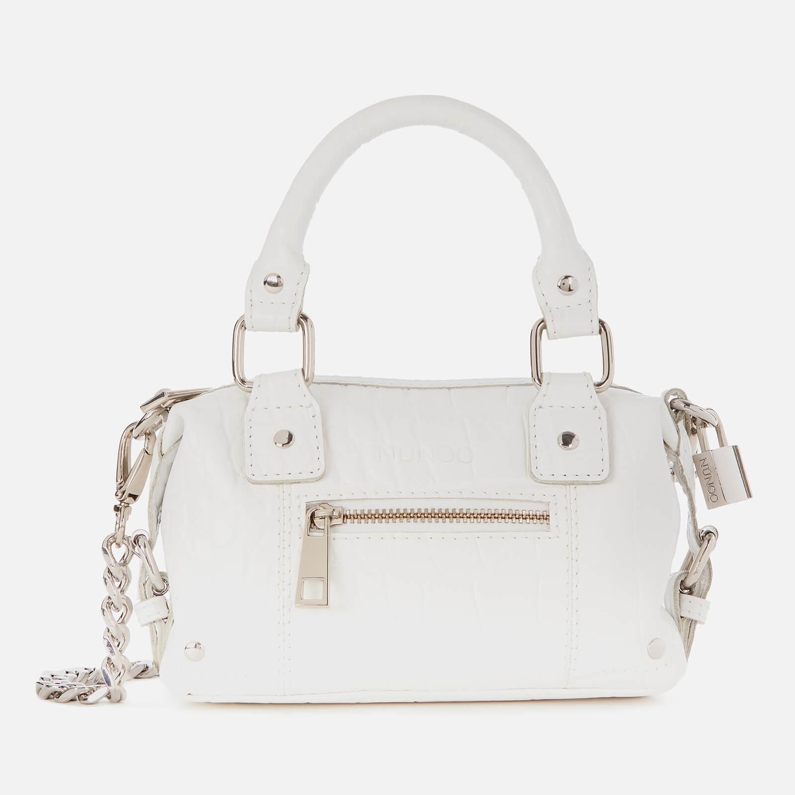 Núnoo Women's Mini Bobby Croco Bag - White