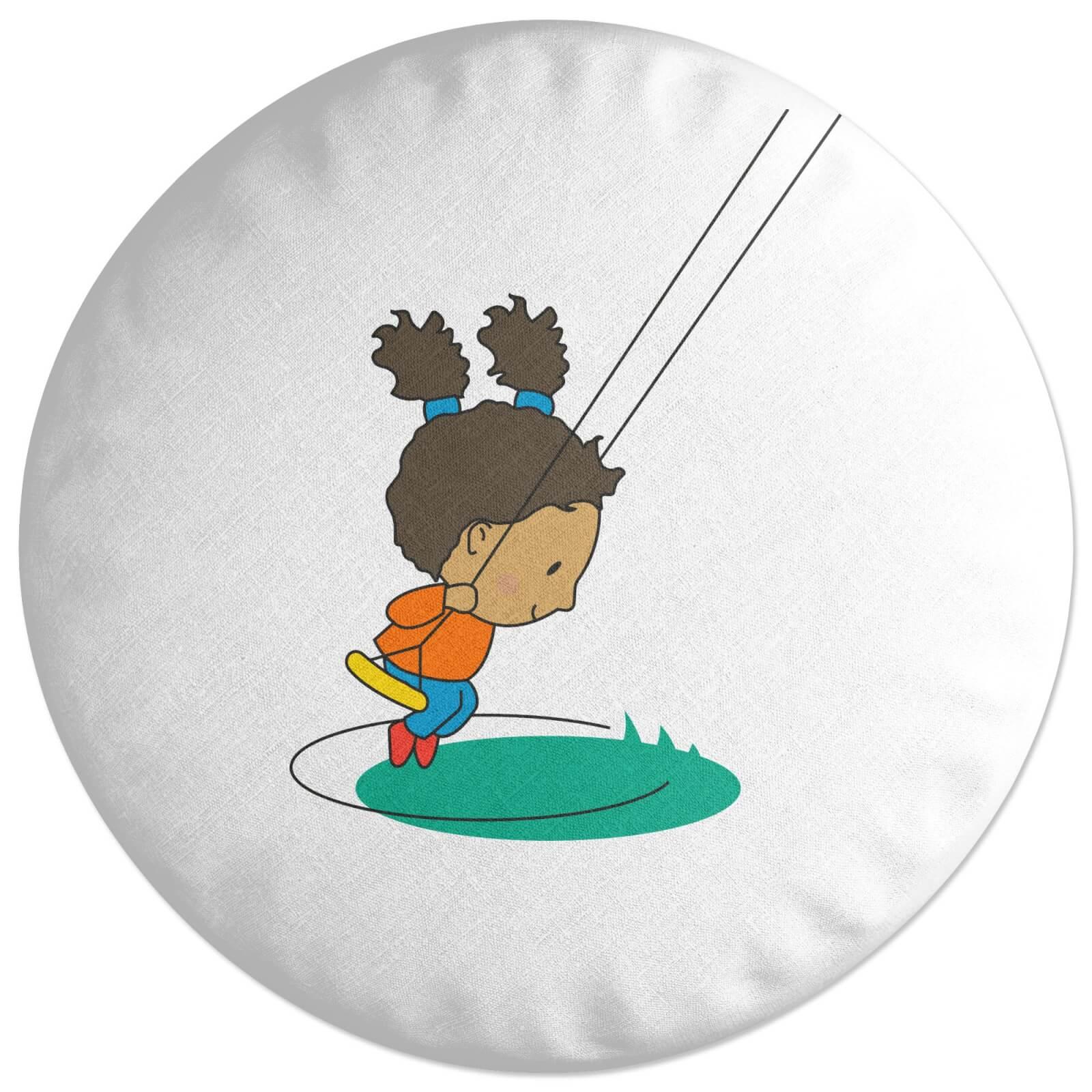 Swing Girl Round Cushion