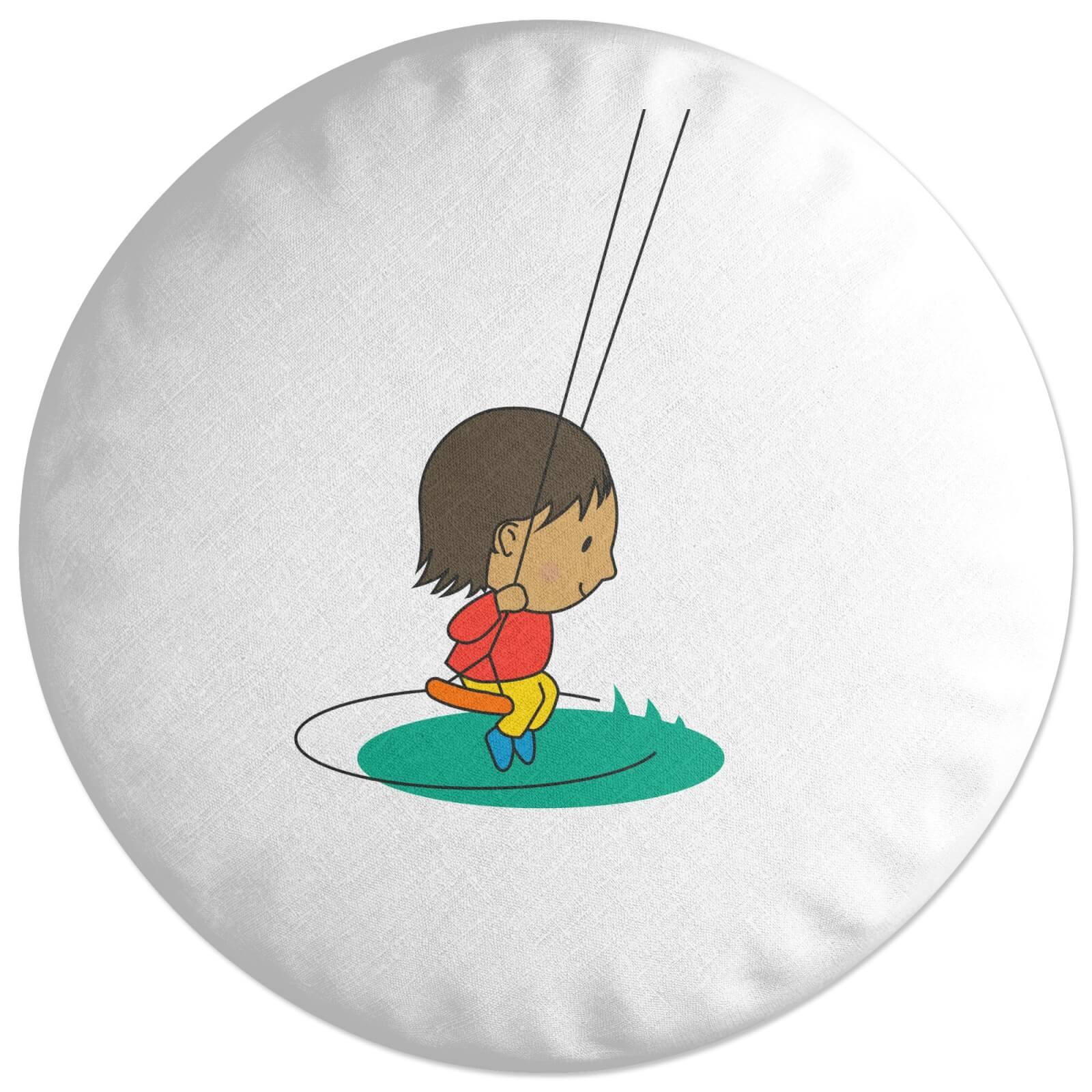 Swing Boy Round Cushion