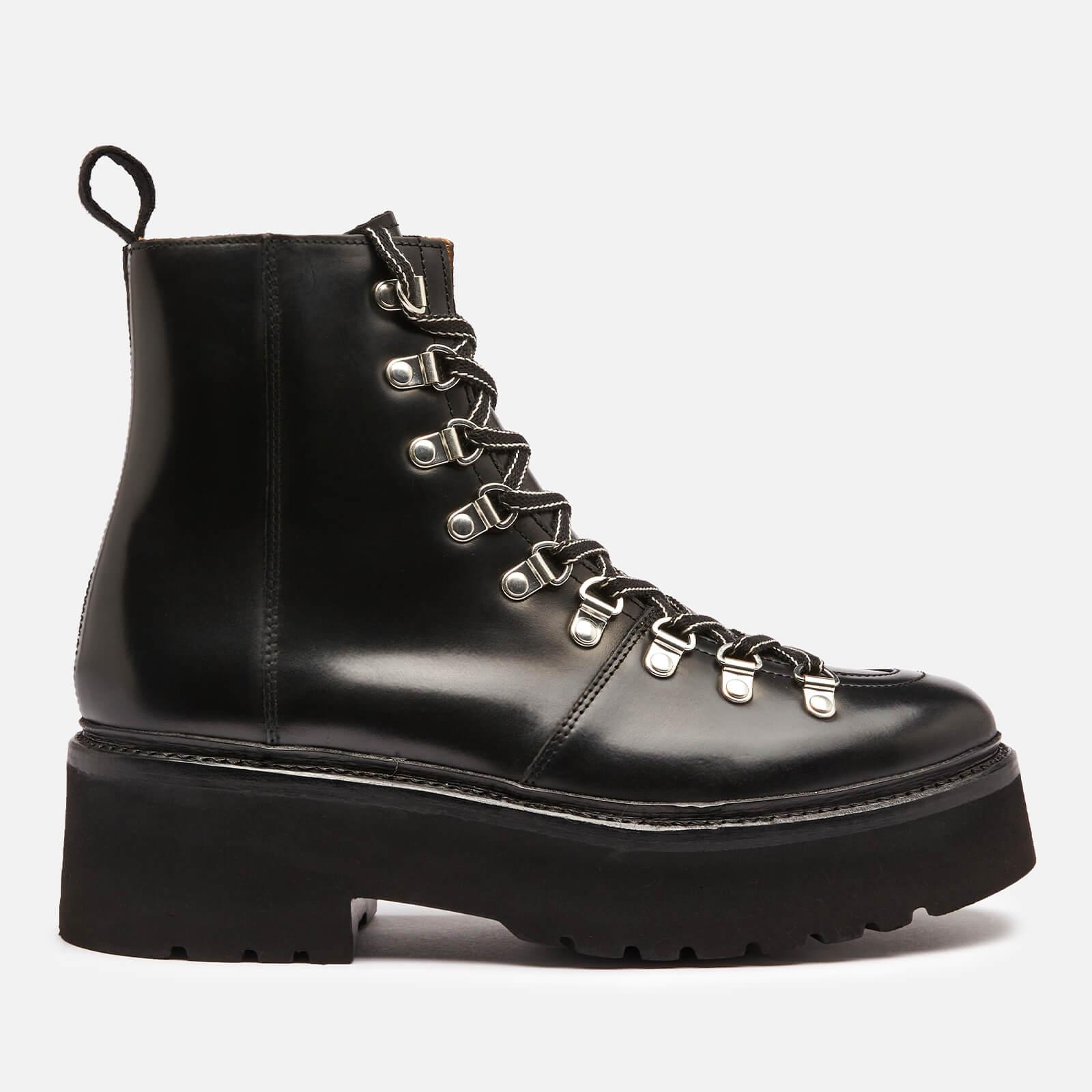 Grenson Women's Nanette Chunky Leather Hiking Style Boots - Black - Uk 3