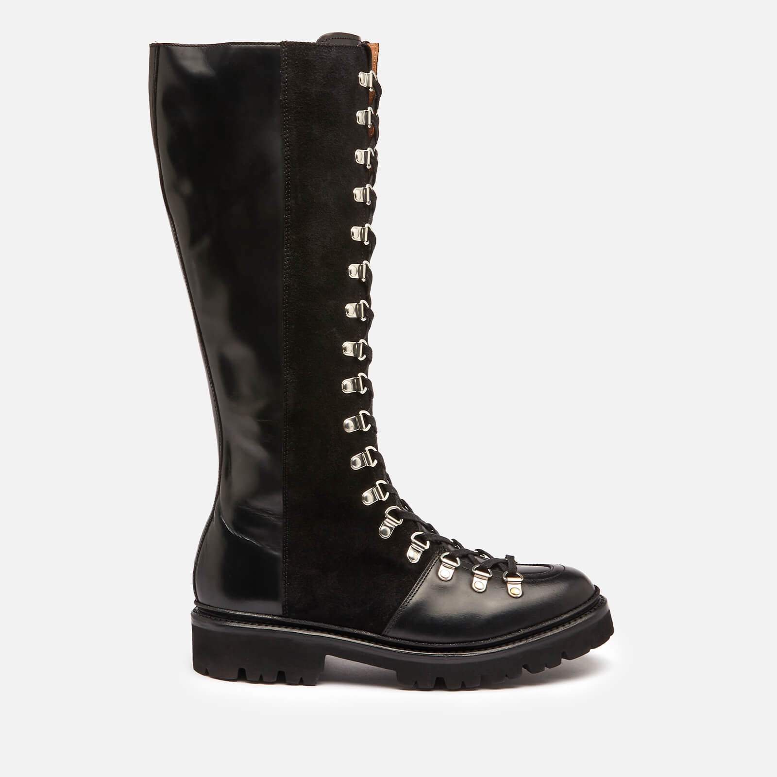 Grenson Women's Nanette Hi Leather/Suede Boots - Black - Uk 3