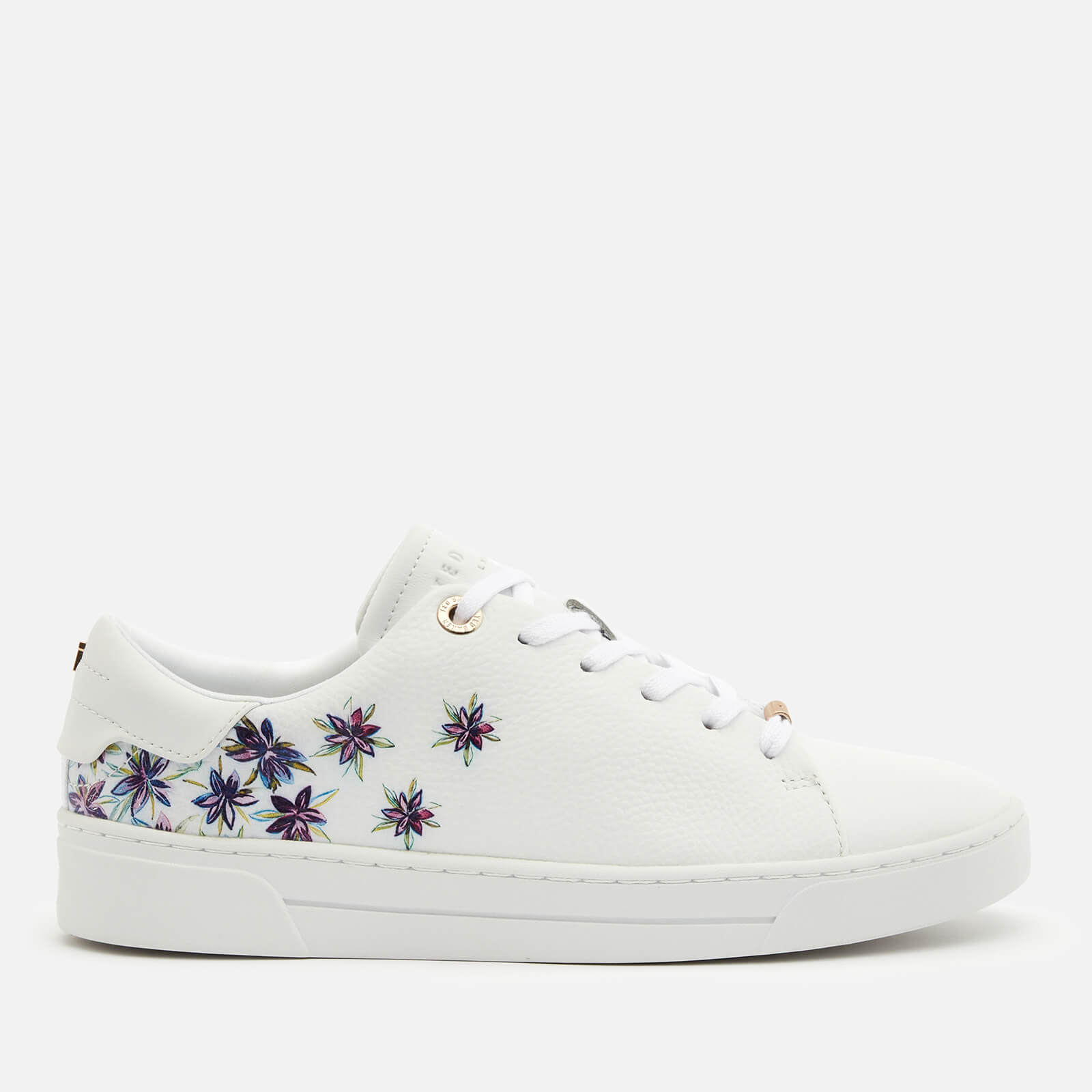 Ted Baker Women's Keilie Leather Cupsole Trainers - White - UK 8