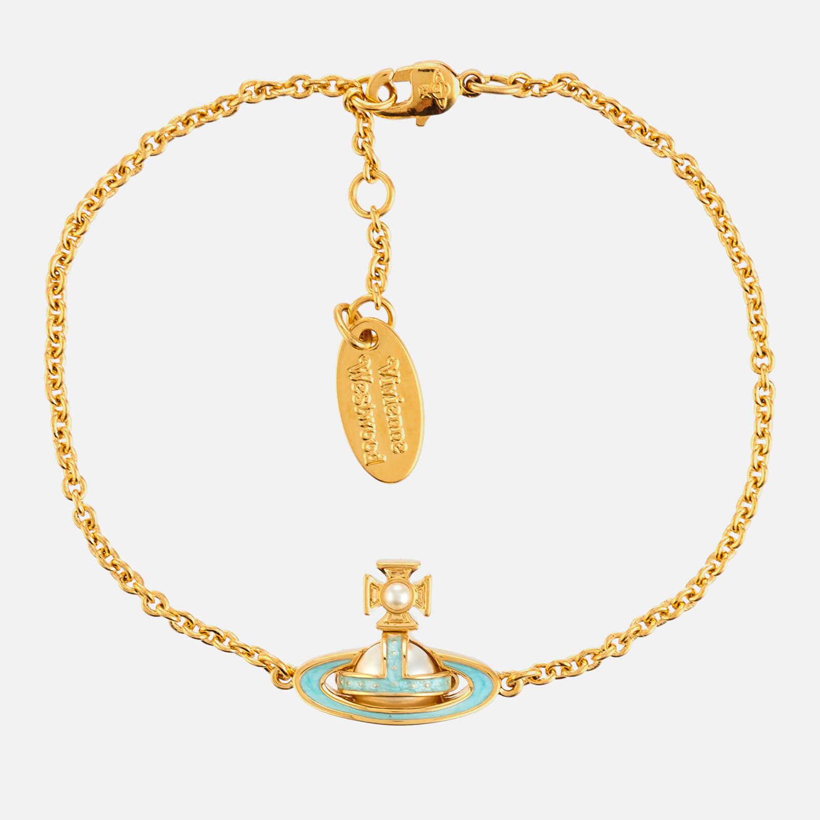 Vivienne Westwood Women's Simonetta Bas Relief Bracelet - Gold/Pearl/Blue
