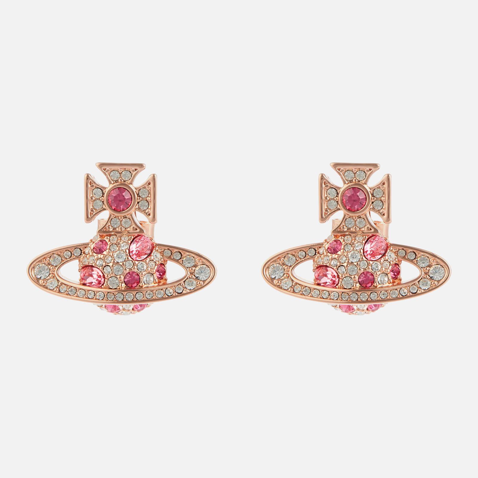 Vivienne Westwood Women's Francette Bas Relief Earrings - Pink Gold/Rose