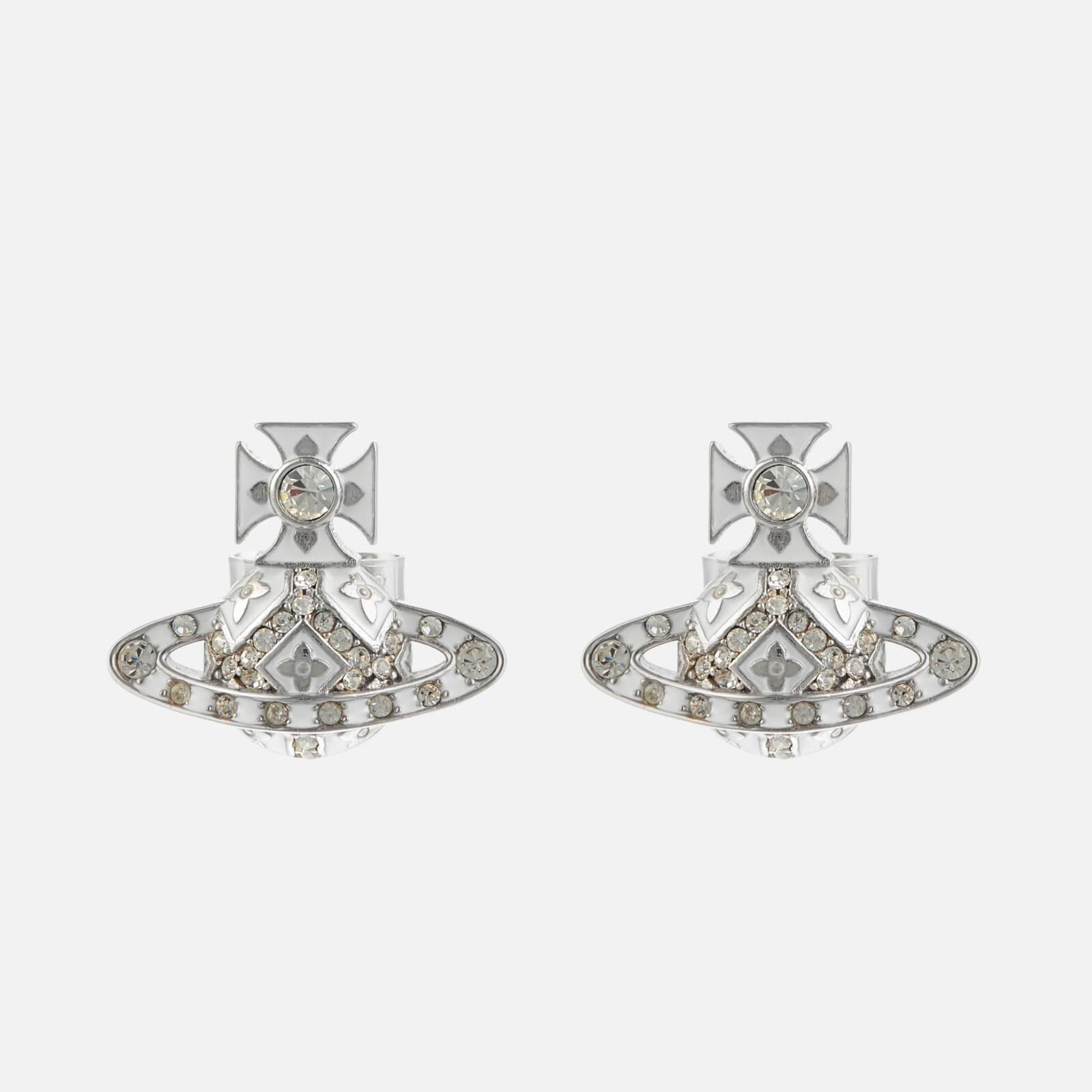 Vivienne Westwood Women's Beryl Bas Relief Earrings - Rhodium White Crystal