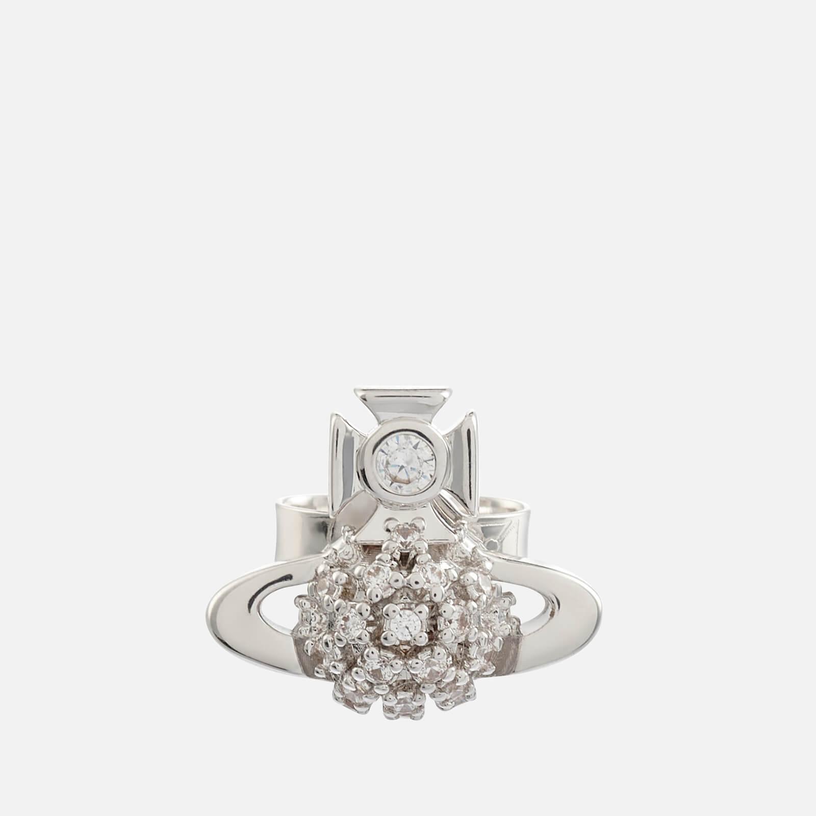 Vivienne Westwood Women's Donna Bas Relief Earrings - Rhodium White CZ