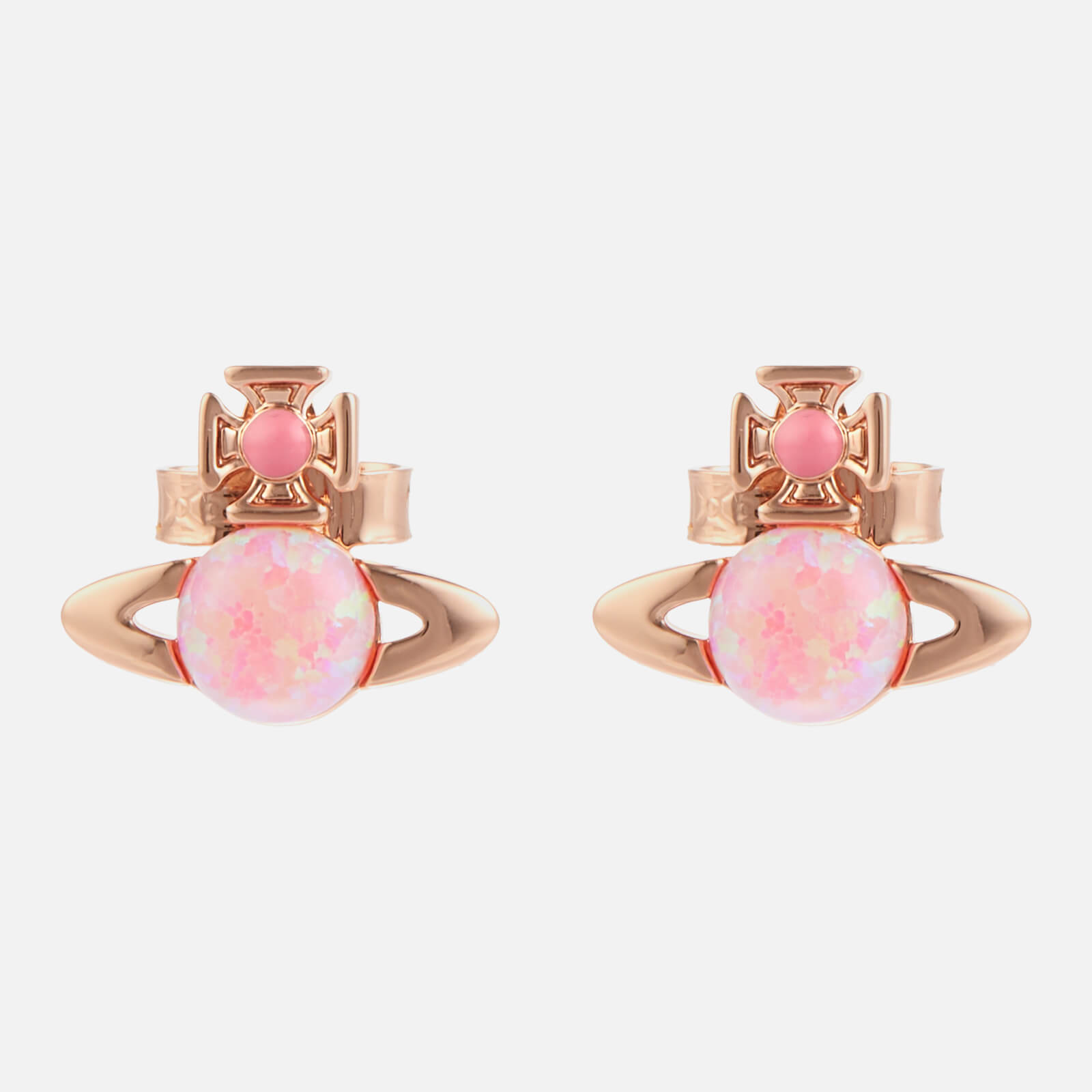 Vivienne Westwood Women's Isabelitta Bas Relief Earrings - Pink Gold Pink Pink