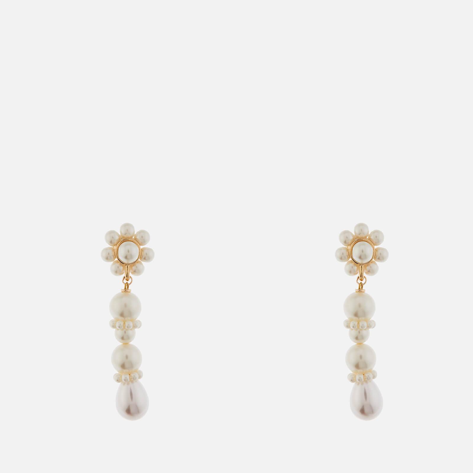 Shrimps Women's Florian Drop Earrings - Cream