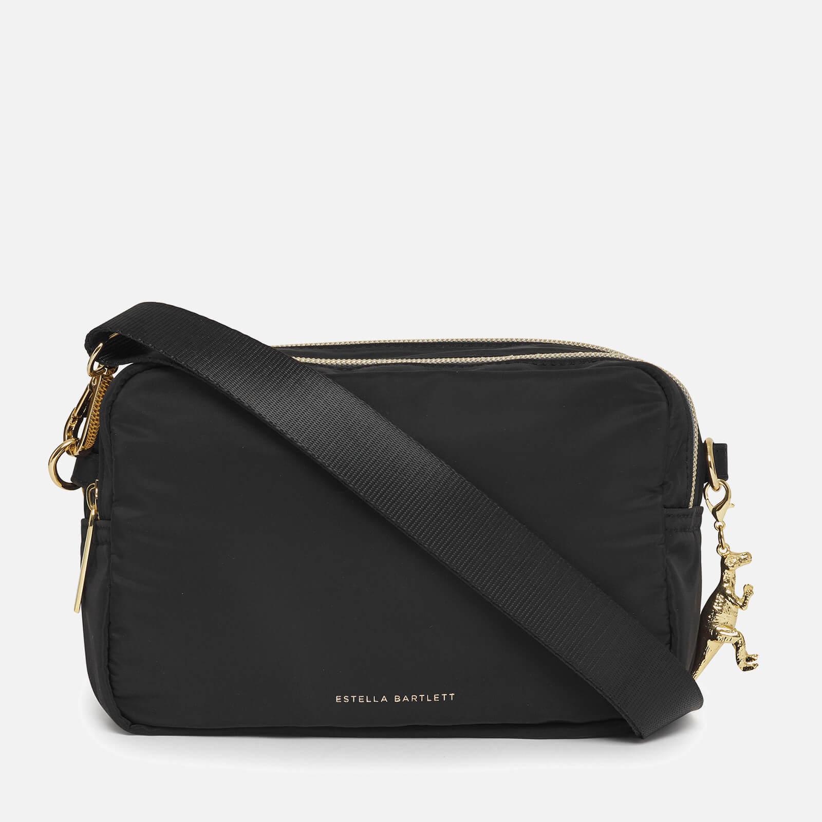 Estella Bartlett Women's The Holland Double Cross Body Bag - Black/Nylon/Black