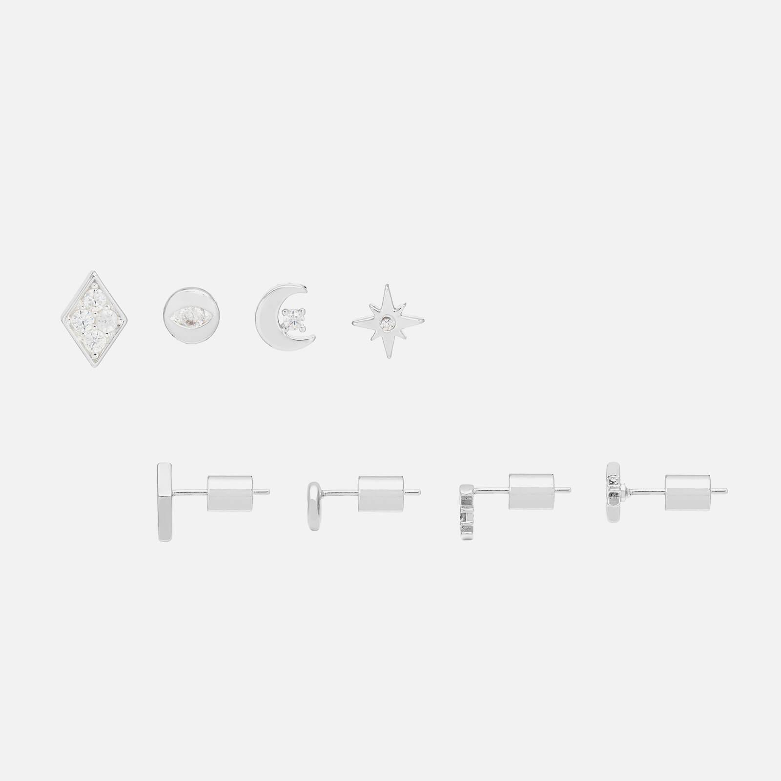 Estella Bartlett Women's Earring Pack - Celestial Silver Plate/Silver Plated