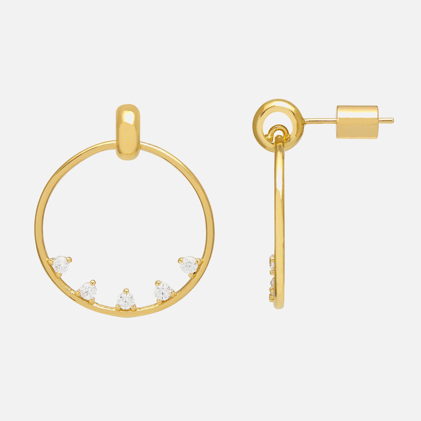 Estella Bartlett Women's Teardrop CZ Circle Earrings - Gold Plate