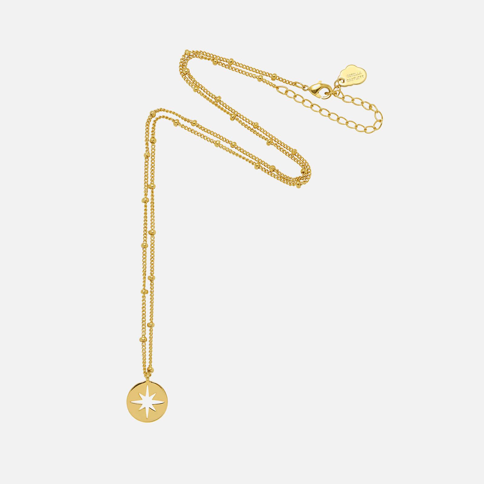 Estella Bartlett Women's Starburst Disc Necklace - Gold Plated