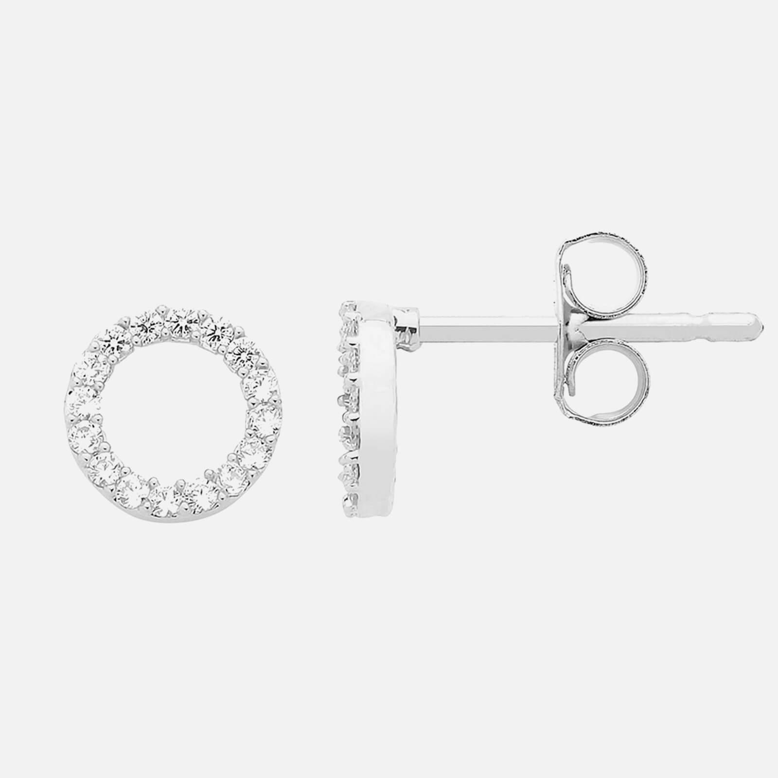 Estella Bartlett Women's CZ Circle Earrings - Silver Plated/NP