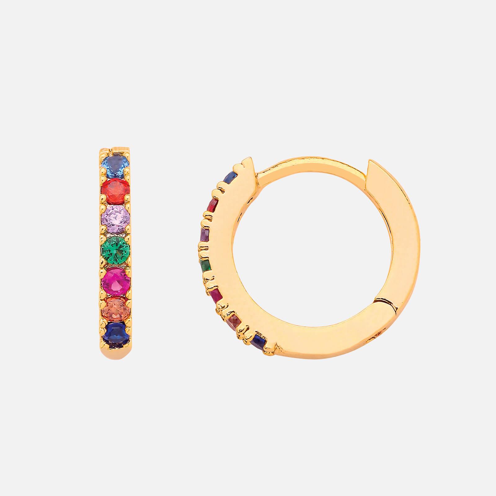 Estella Bartlett Women's Multicoloured Pave Hoop Earrings - Gold Plated/NP