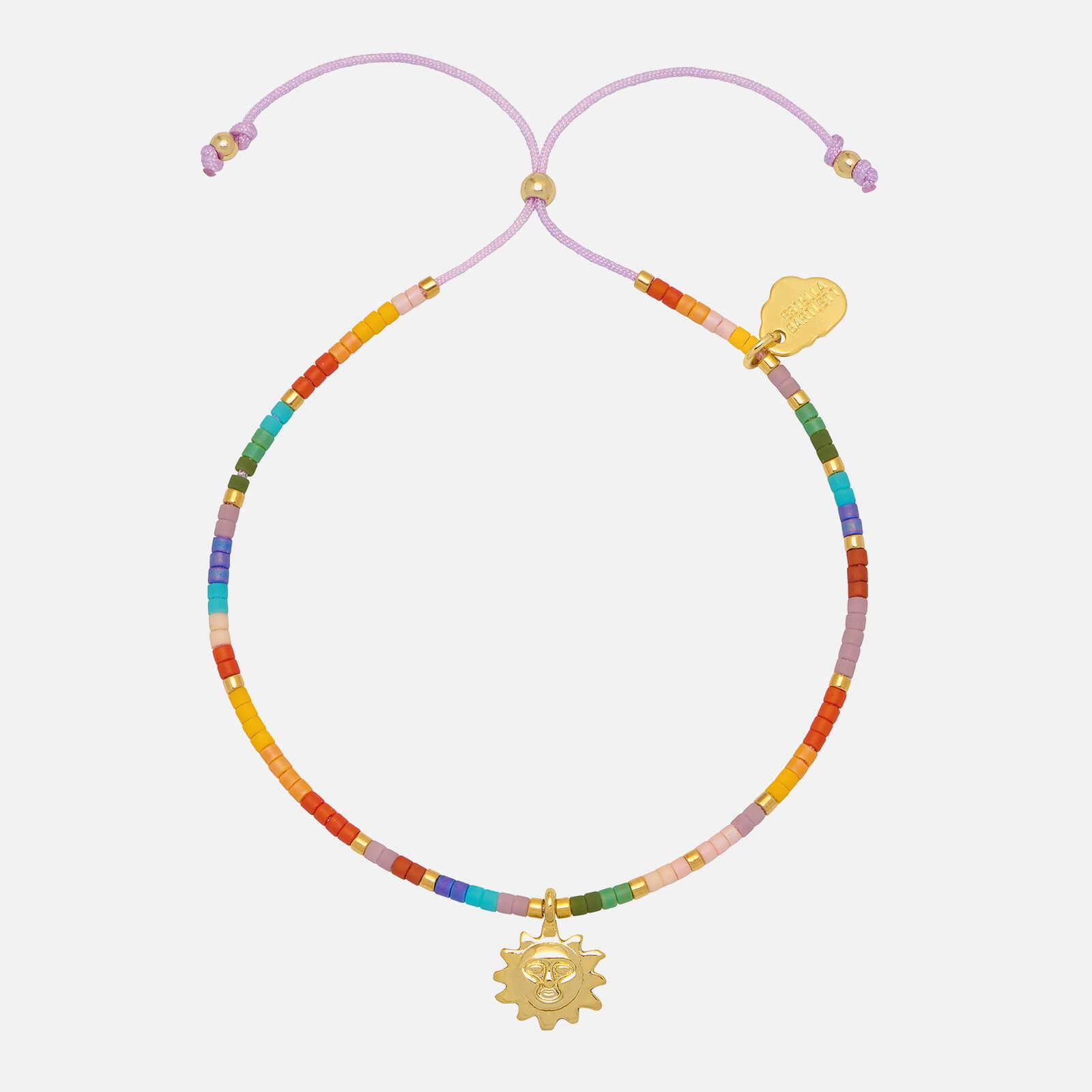 Estella Bartlett Women's Beaded Rainbow Sun Charm Louise Bracelet - Yellow Gold