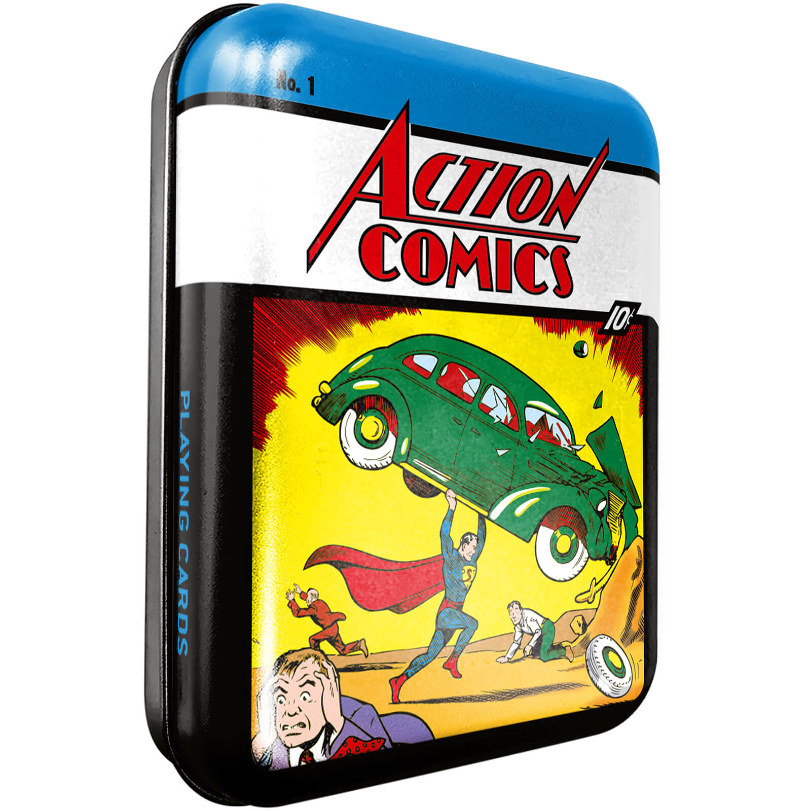 Image of DC Retro Action Comic Collector Playing Cards & Tin